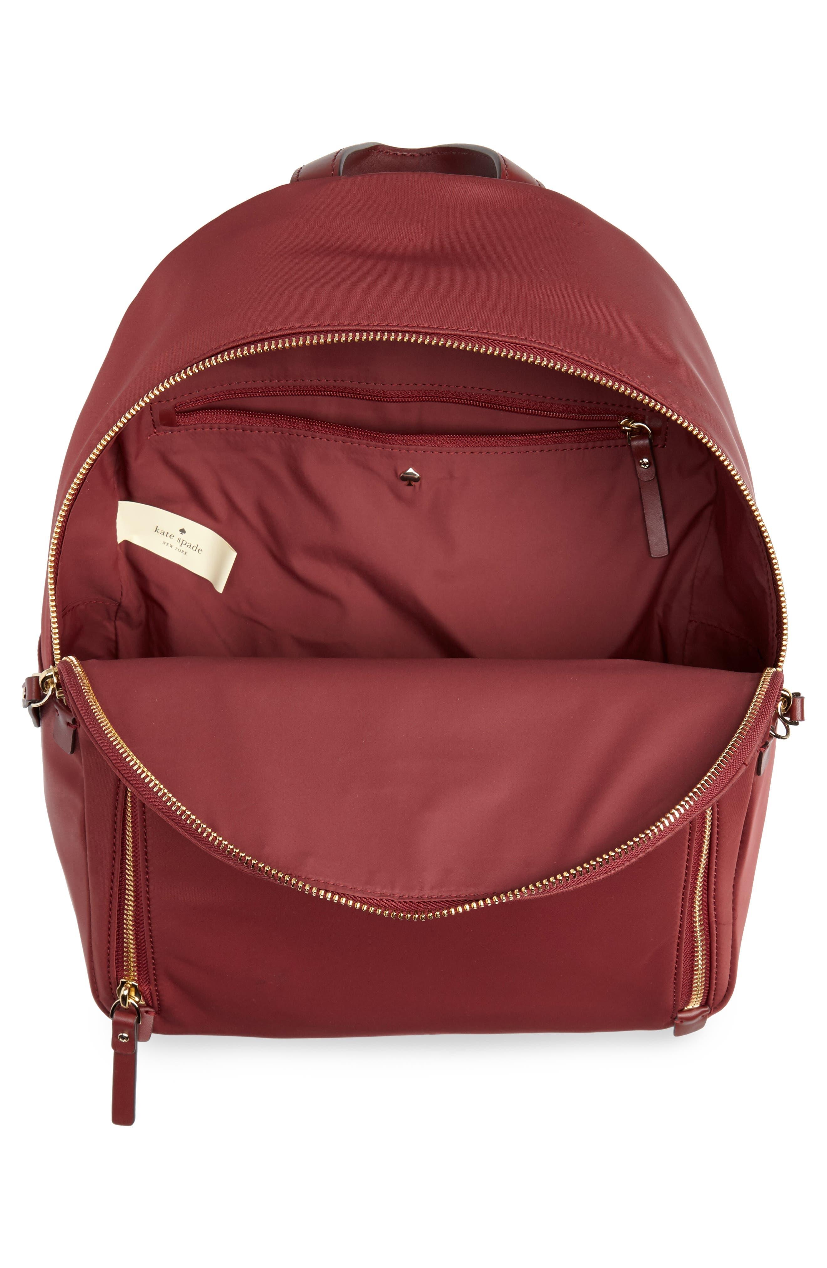 watson lane - hartley nylon backpack,                             Alternate thumbnail 4, color,                             DARK CURRANT
