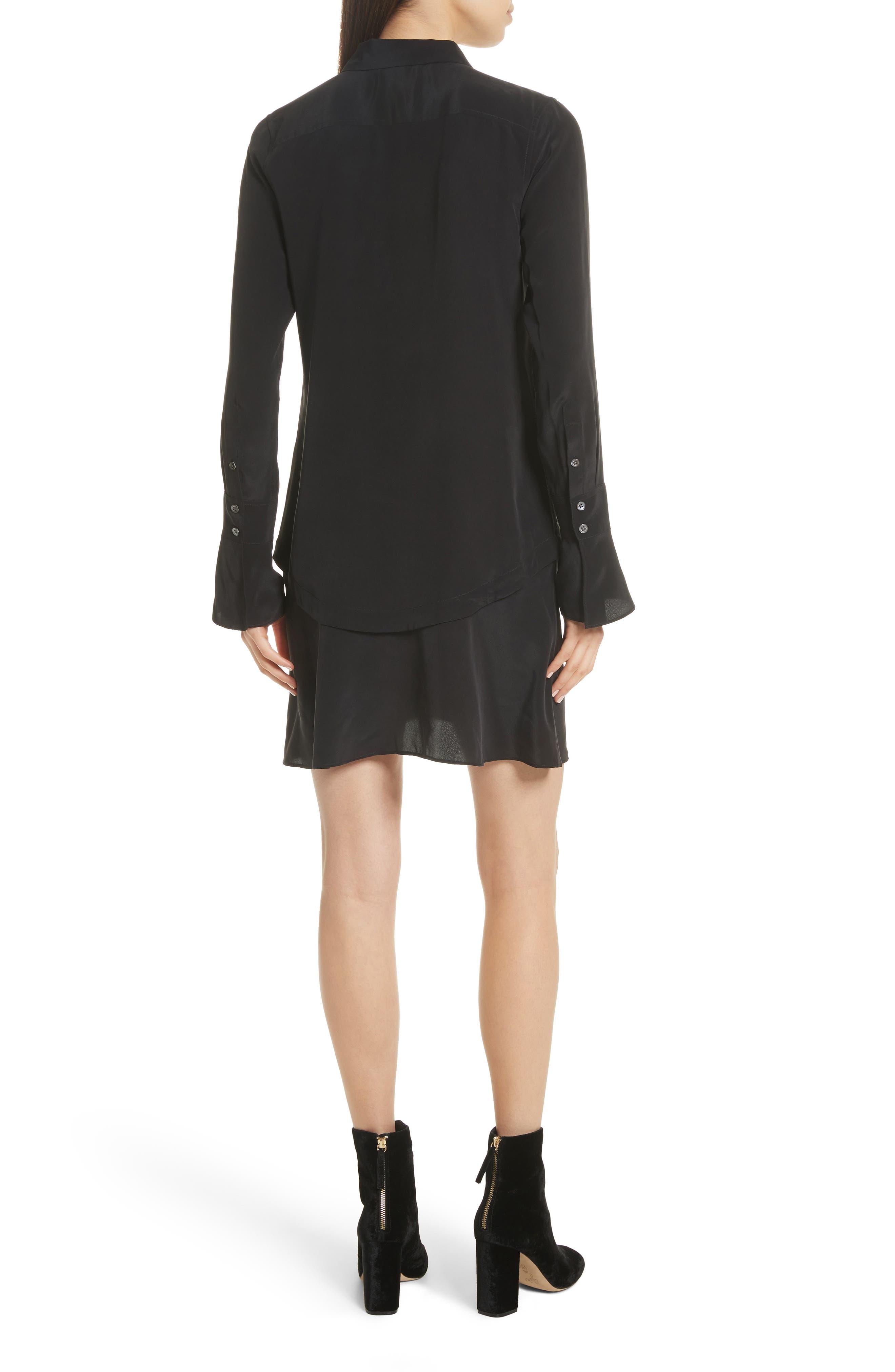 Daphne Silk Shirtdress,                             Alternate thumbnail 2, color,                             003