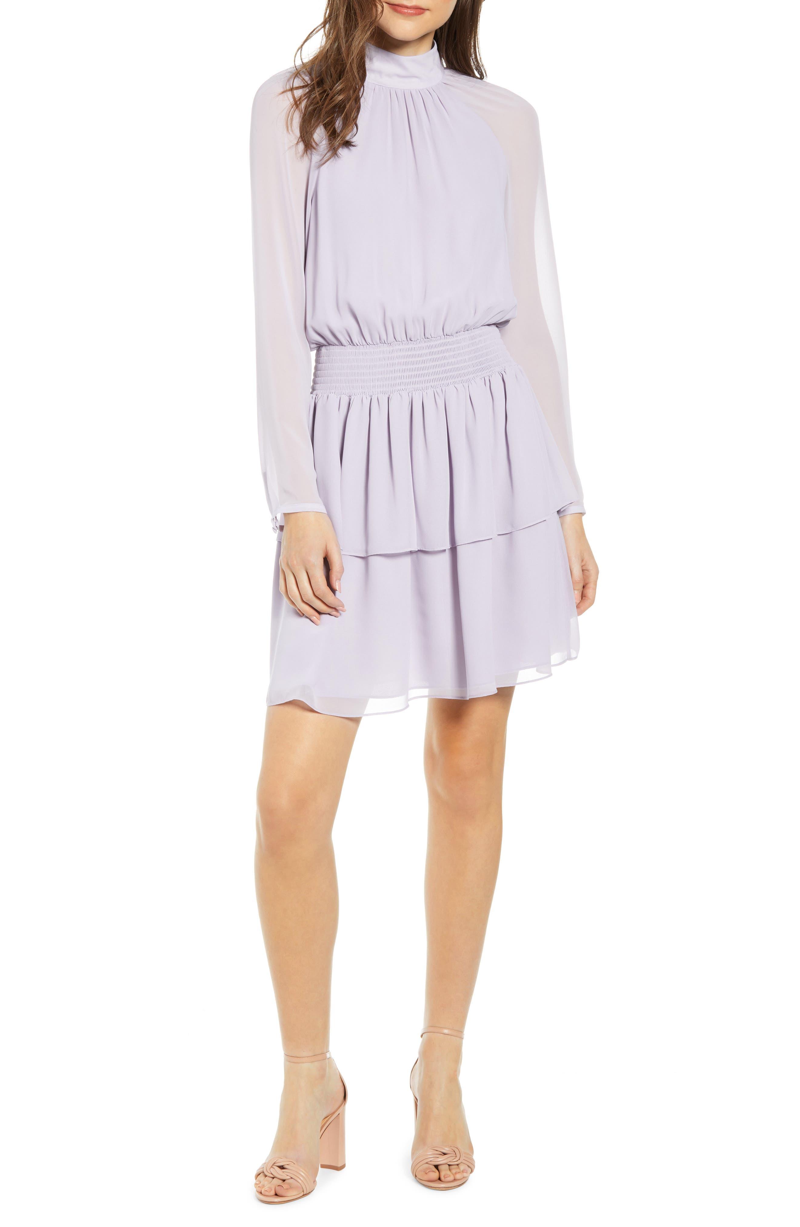 Rebecca Minkoff Zaykee Blouson Dress, Purple