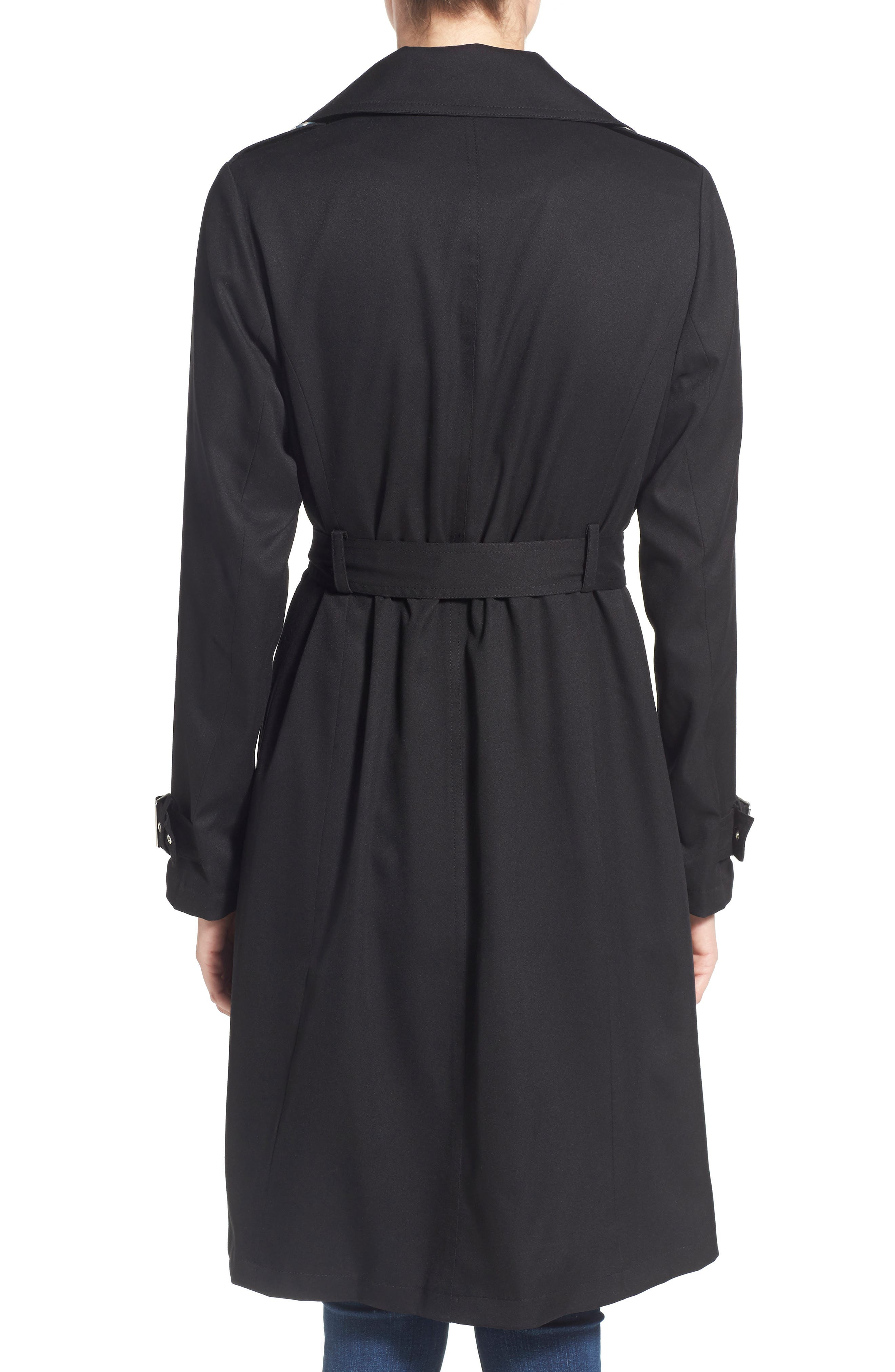 Flowy Belted Trench Coat,                             Alternate thumbnail 8, color,