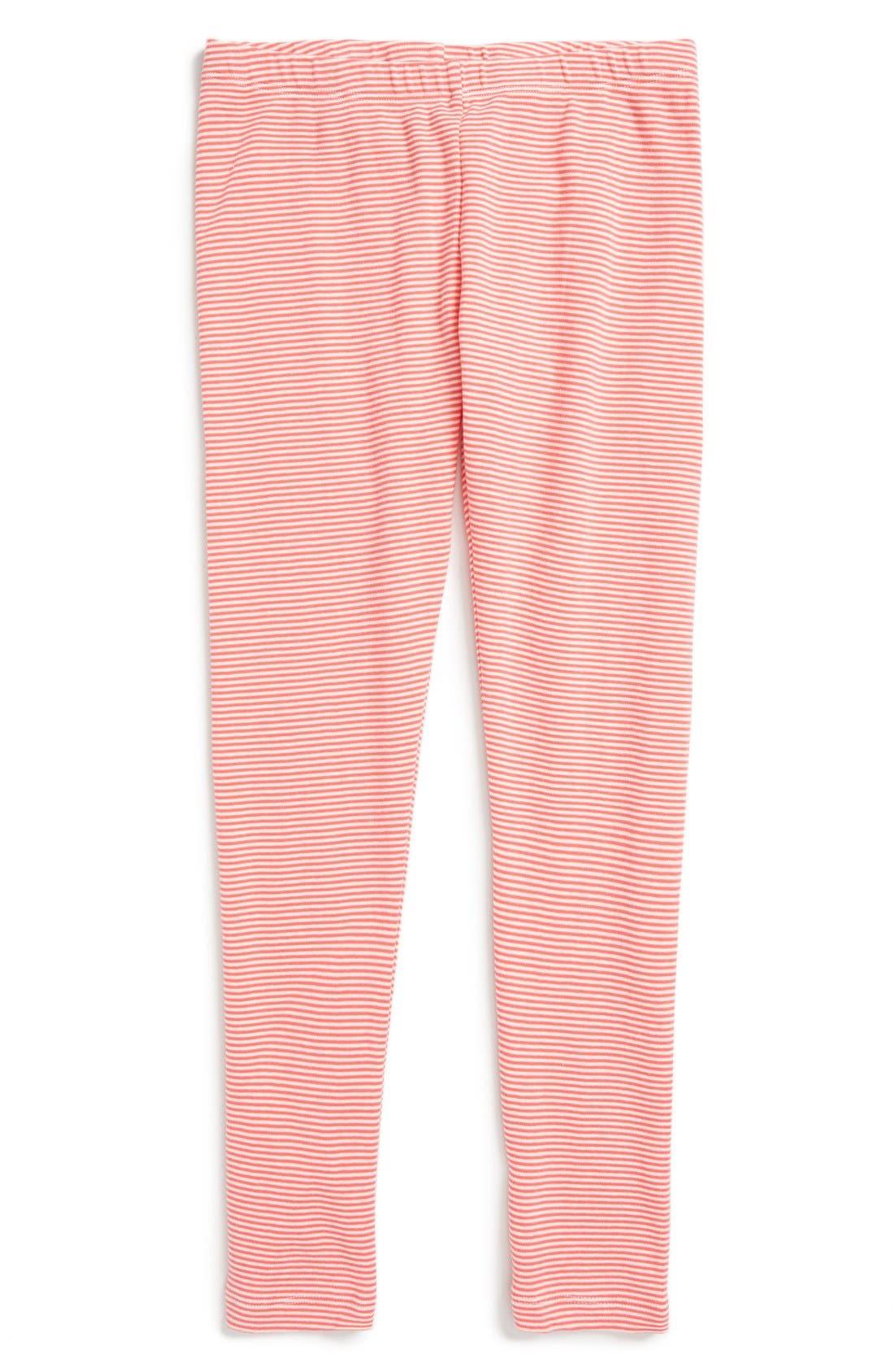 Stripe Cotton Leggings,                             Main thumbnail 6, color,