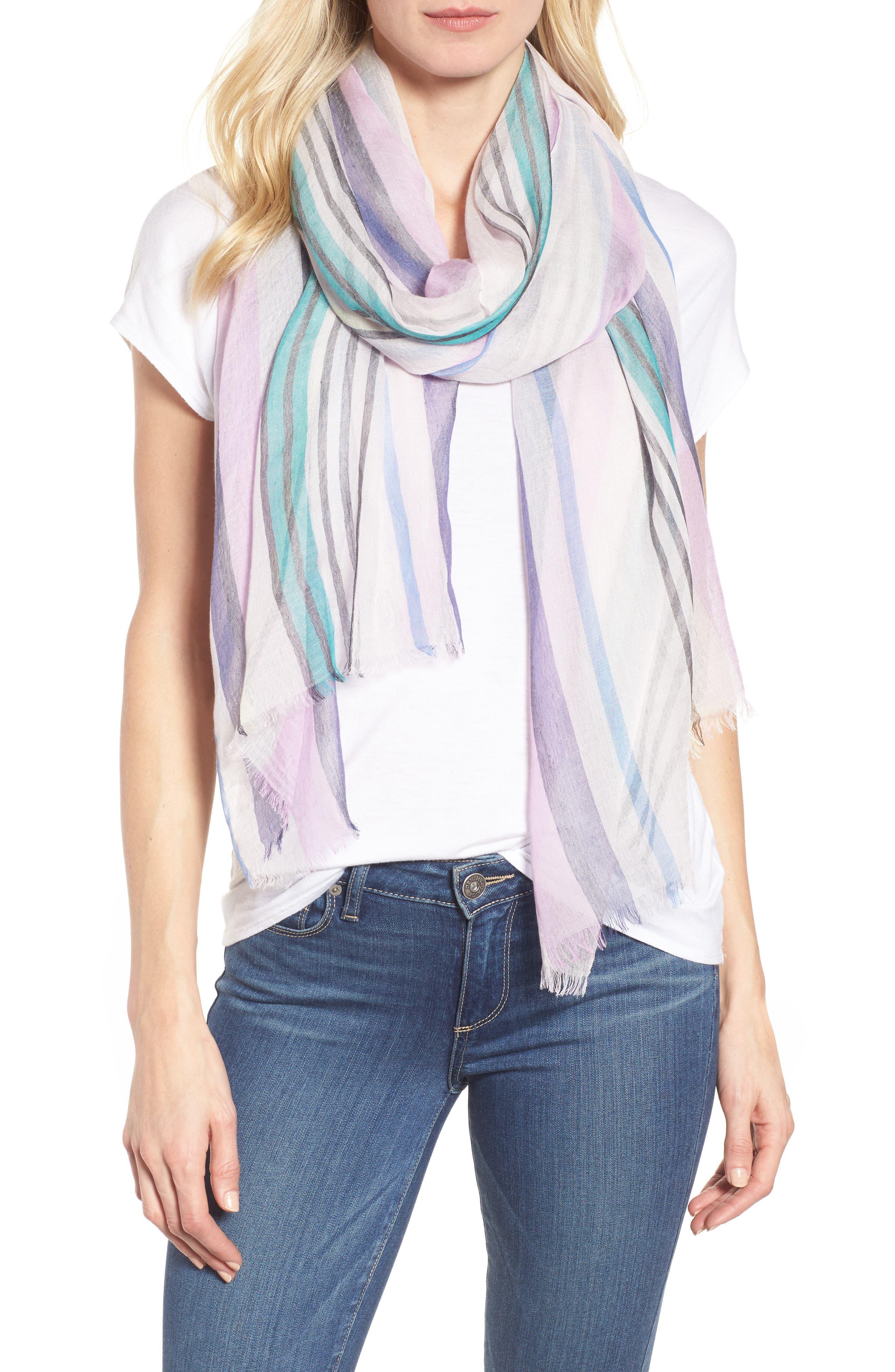 Yarn Dyed Stripe Wrap,                             Main thumbnail 3, color,