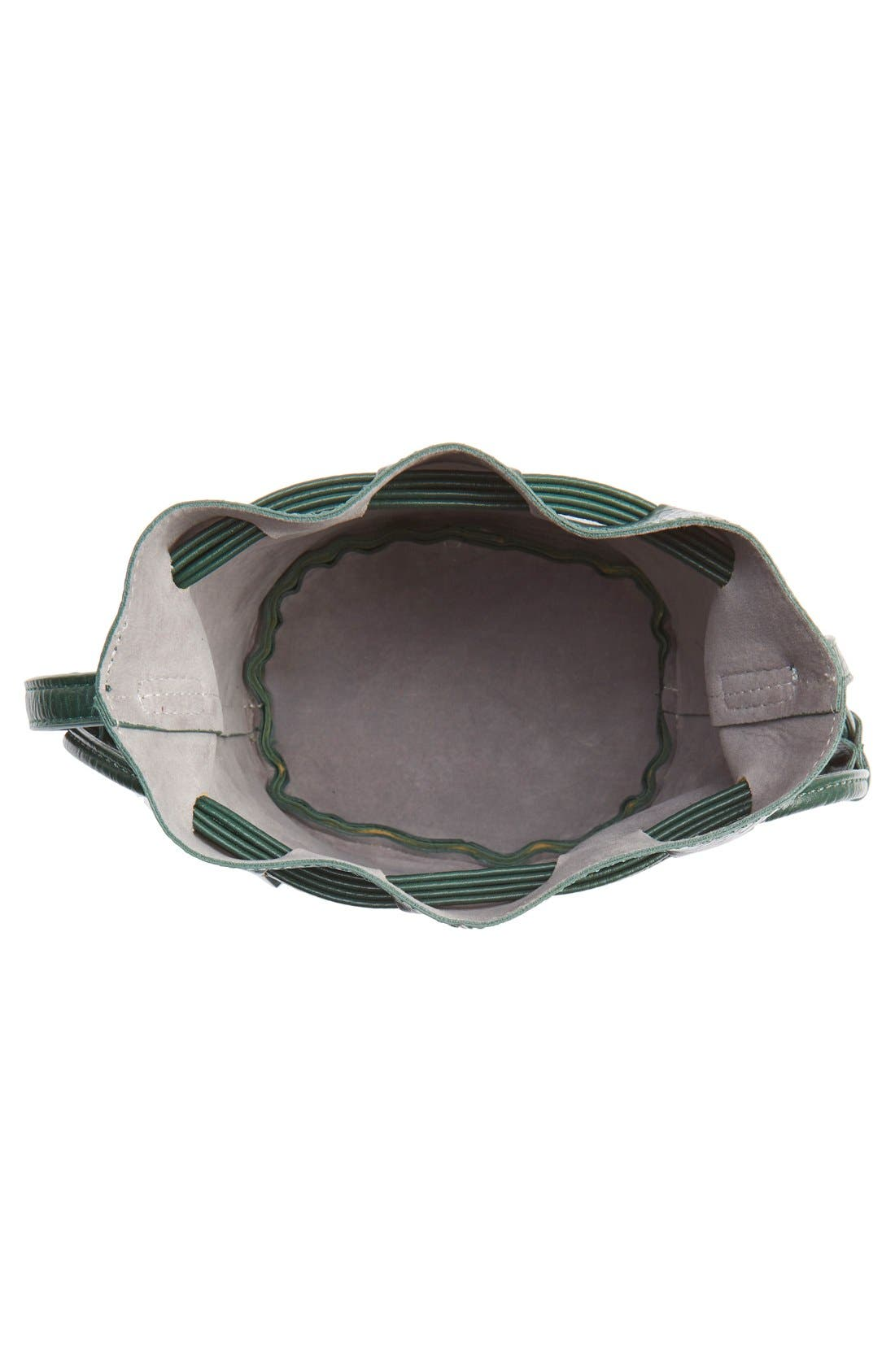Mini Faux Leather Tassel Bucket Bag,                             Alternate thumbnail 14, color,