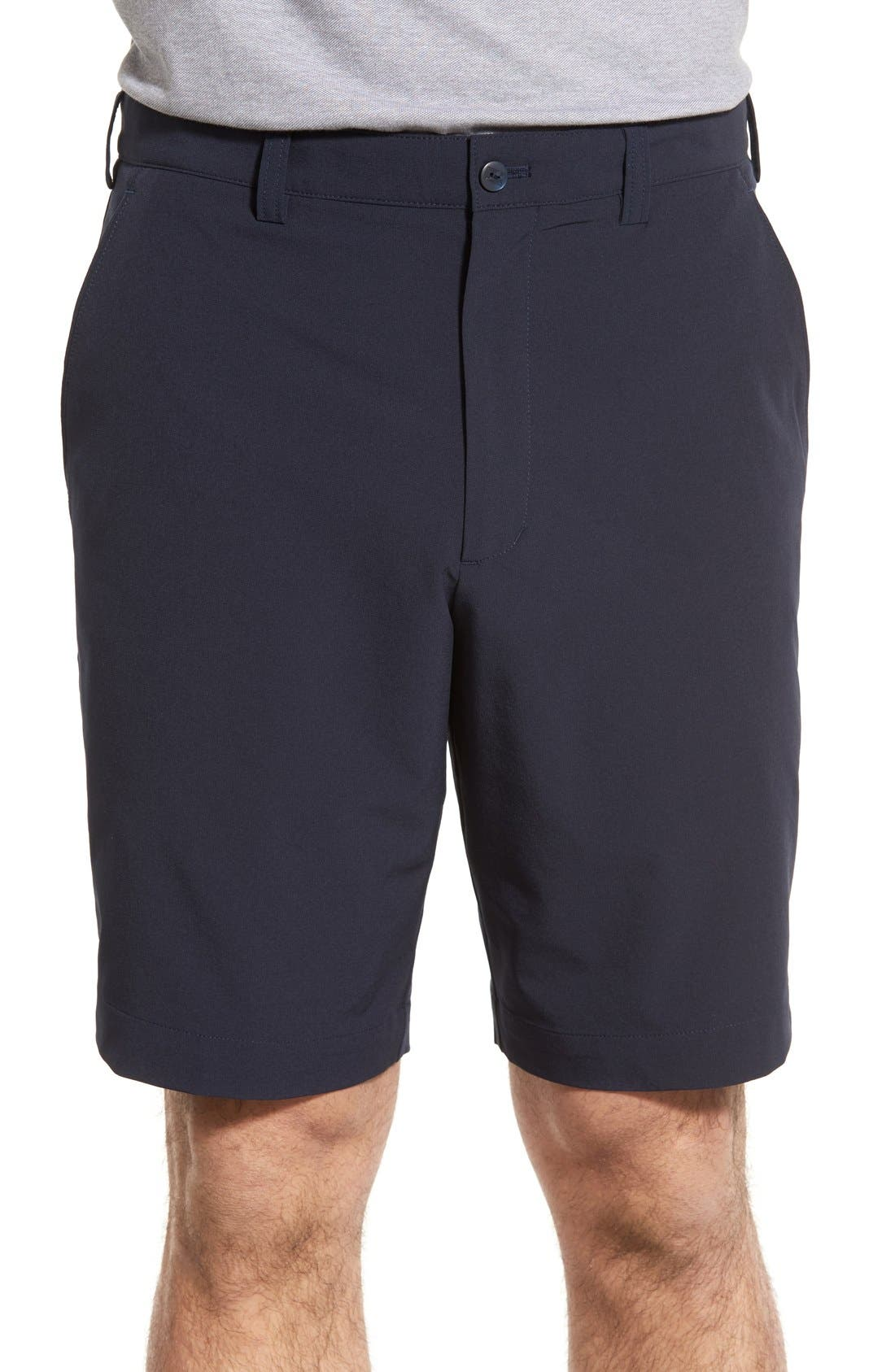 CUTTER & BUCK,                             'Bainbridge' DryTec Shorts,                             Main thumbnail 1, color,                             NAVY BLUE