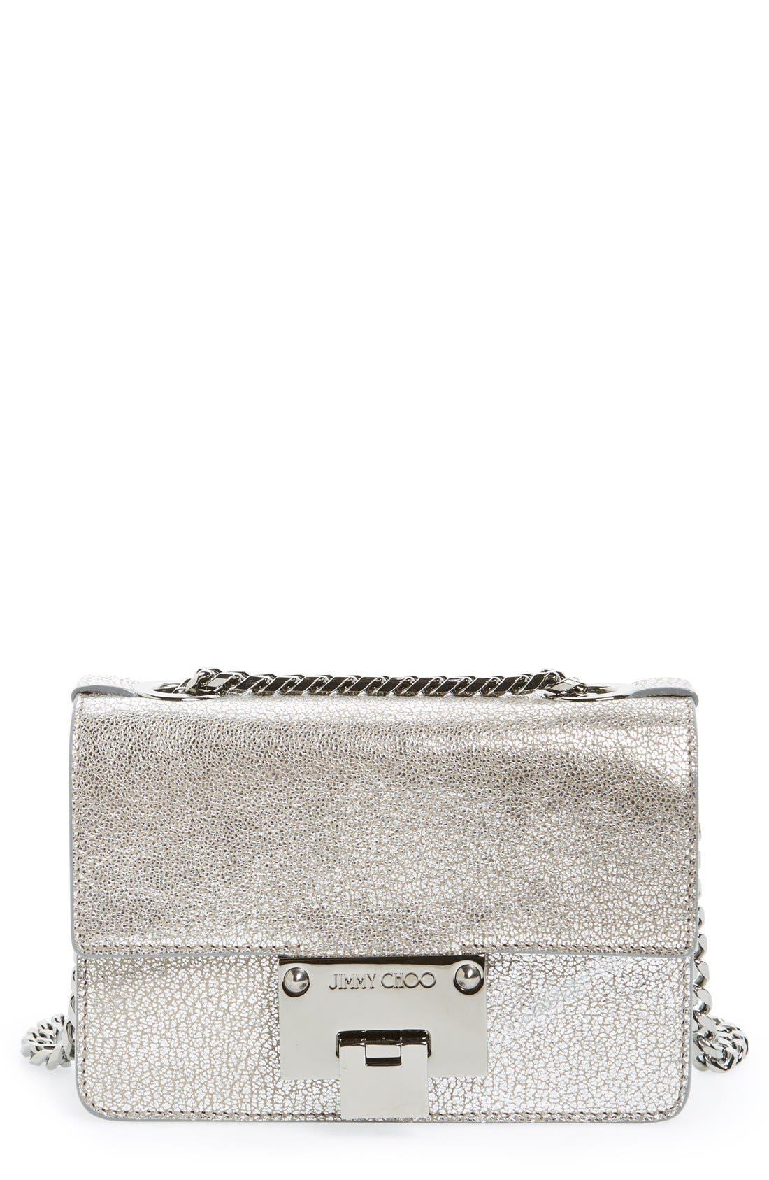 Rebel Mini Metallic Leather Crossbody Bag,                             Main thumbnail 1, color,                             040