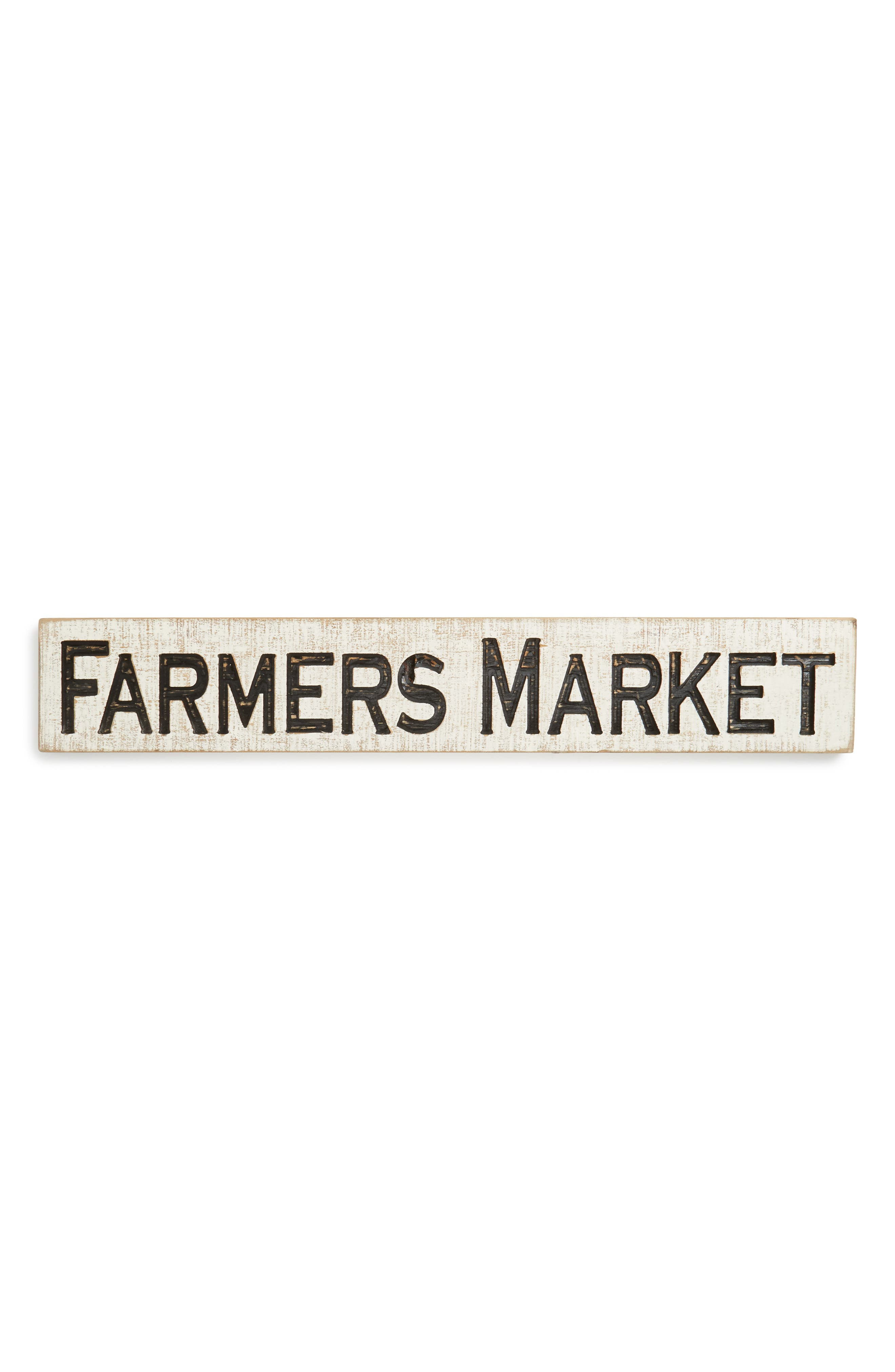 Farmers' Market Wooden Sign,                             Main thumbnail 1, color,                             100
