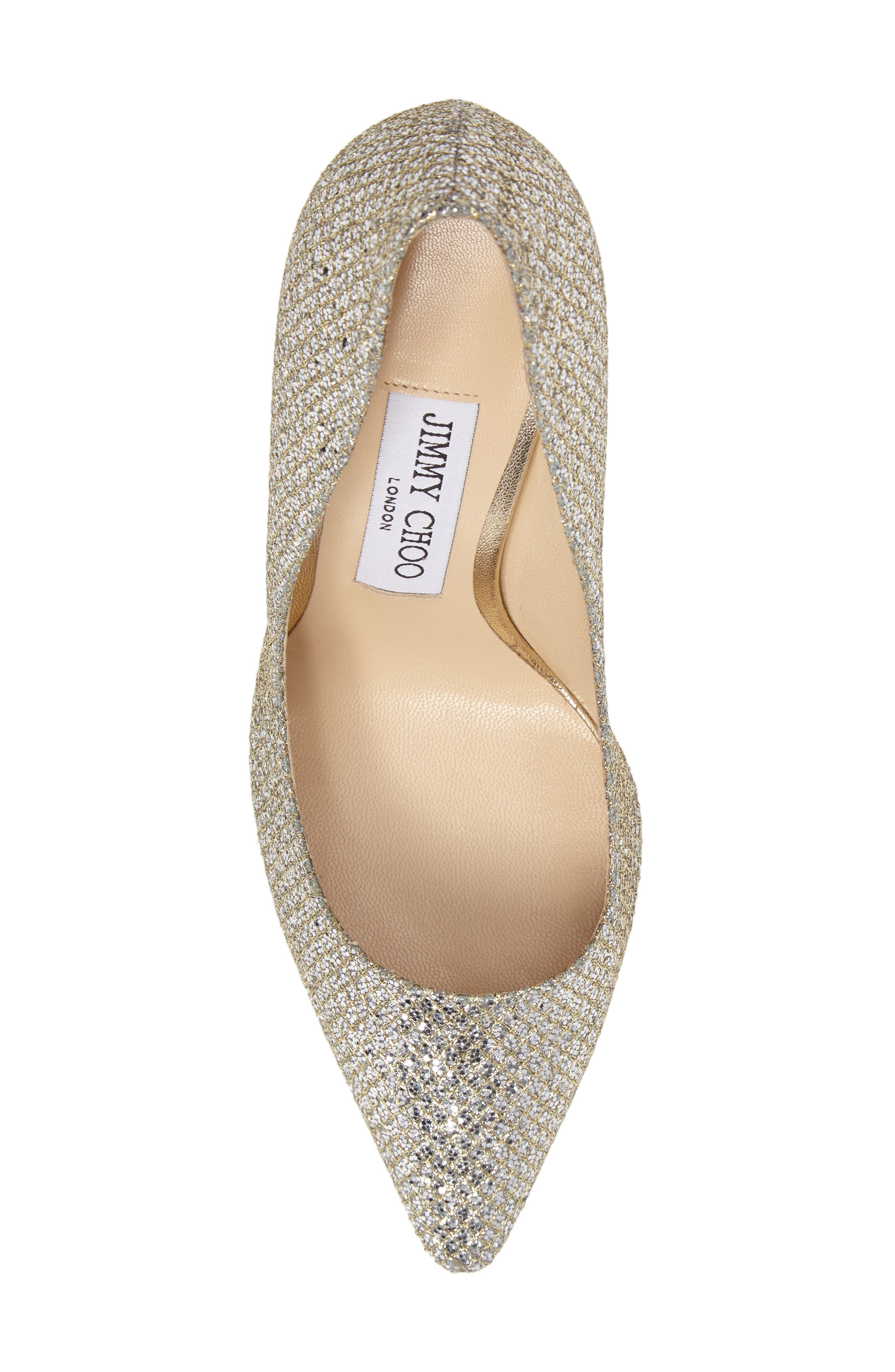 Romy Pointy Toe Pump,                             Alternate thumbnail 5, color,                             CHAMPAGNE