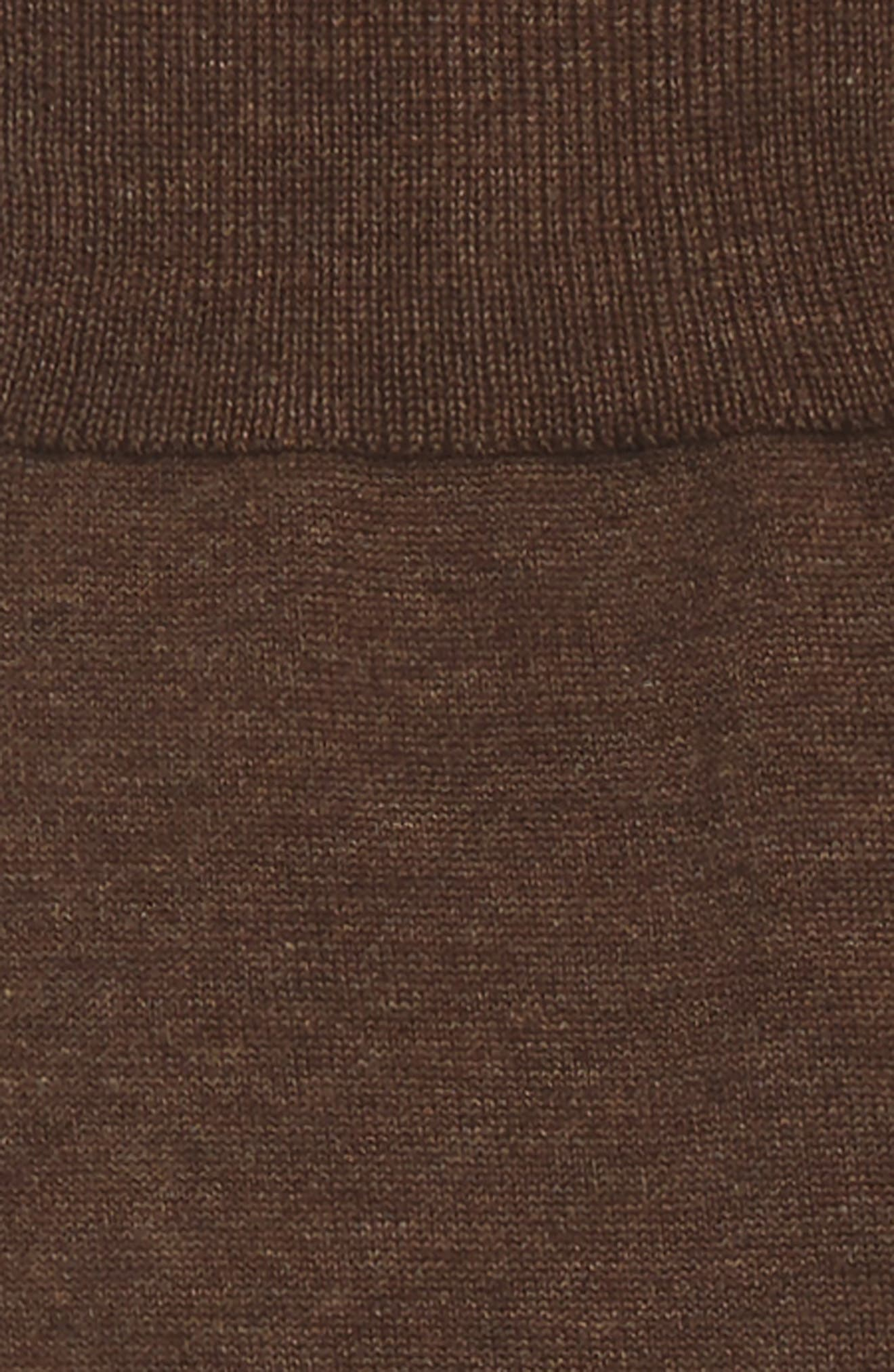 John W. Nordstrom Solid Over the Calf Socks,                             Alternate thumbnail 2, color,                             BROWN HEATHER