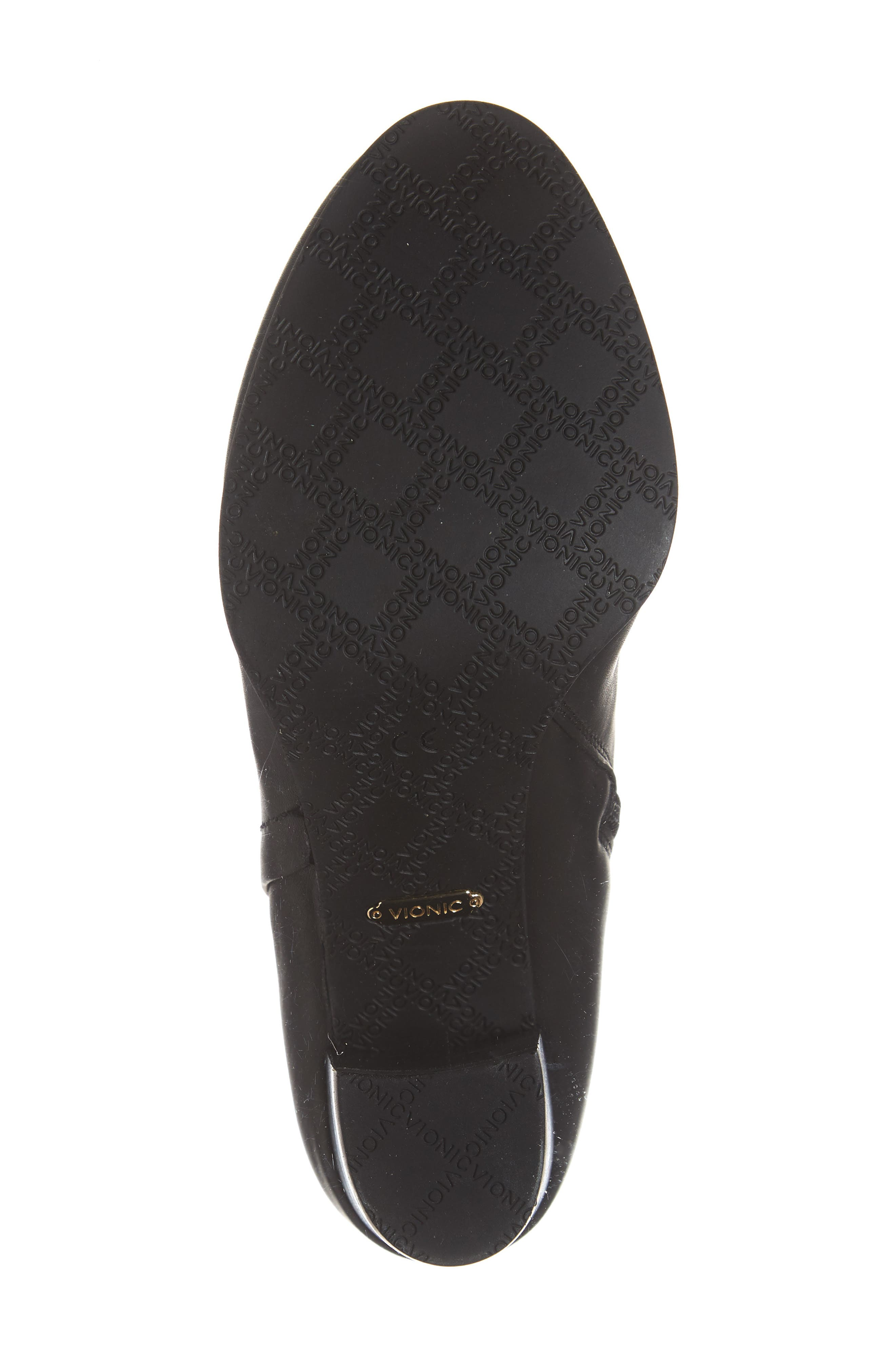 VIONIC,                             Kennedy Ankle Bootie,                             Alternate thumbnail 6, color,                             BLACK LEATHER