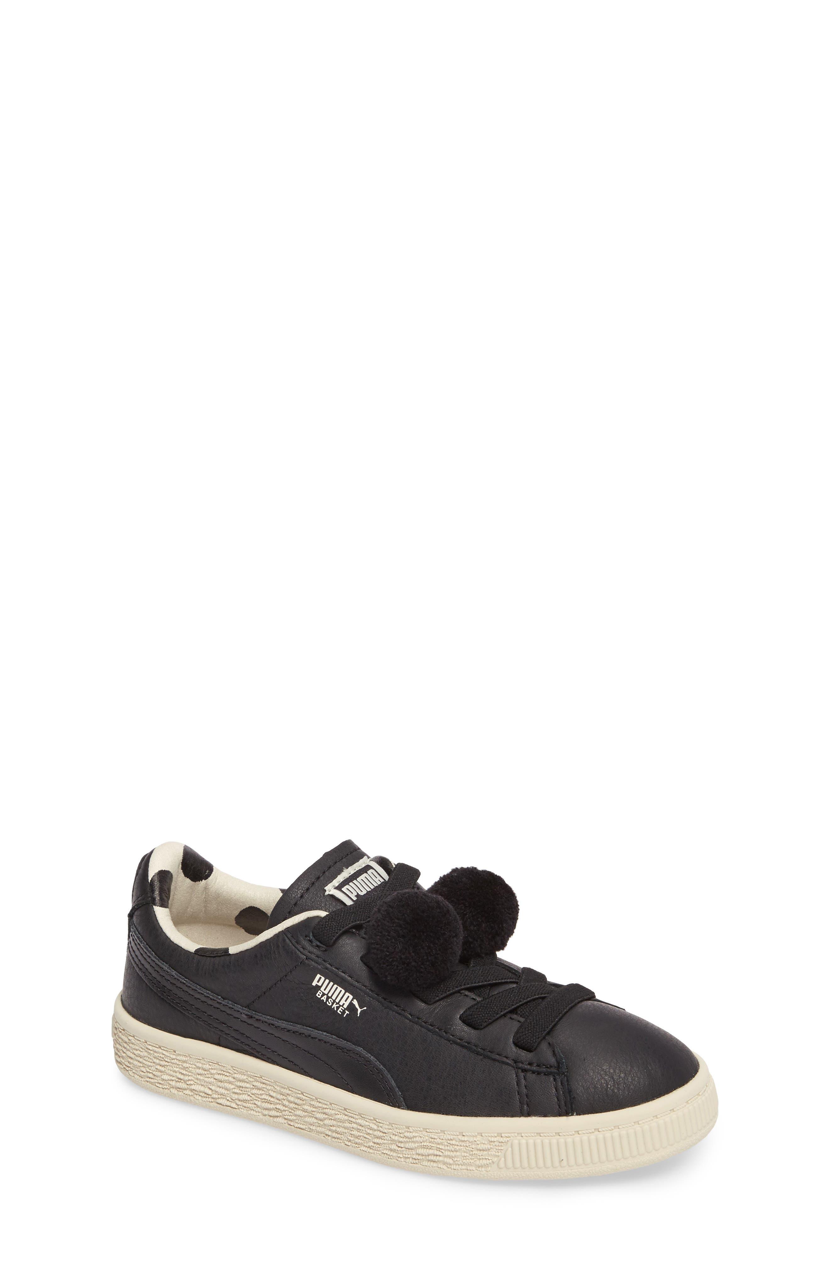x tinycottons Basket Pompom Sneaker,                         Main,                         color, 001