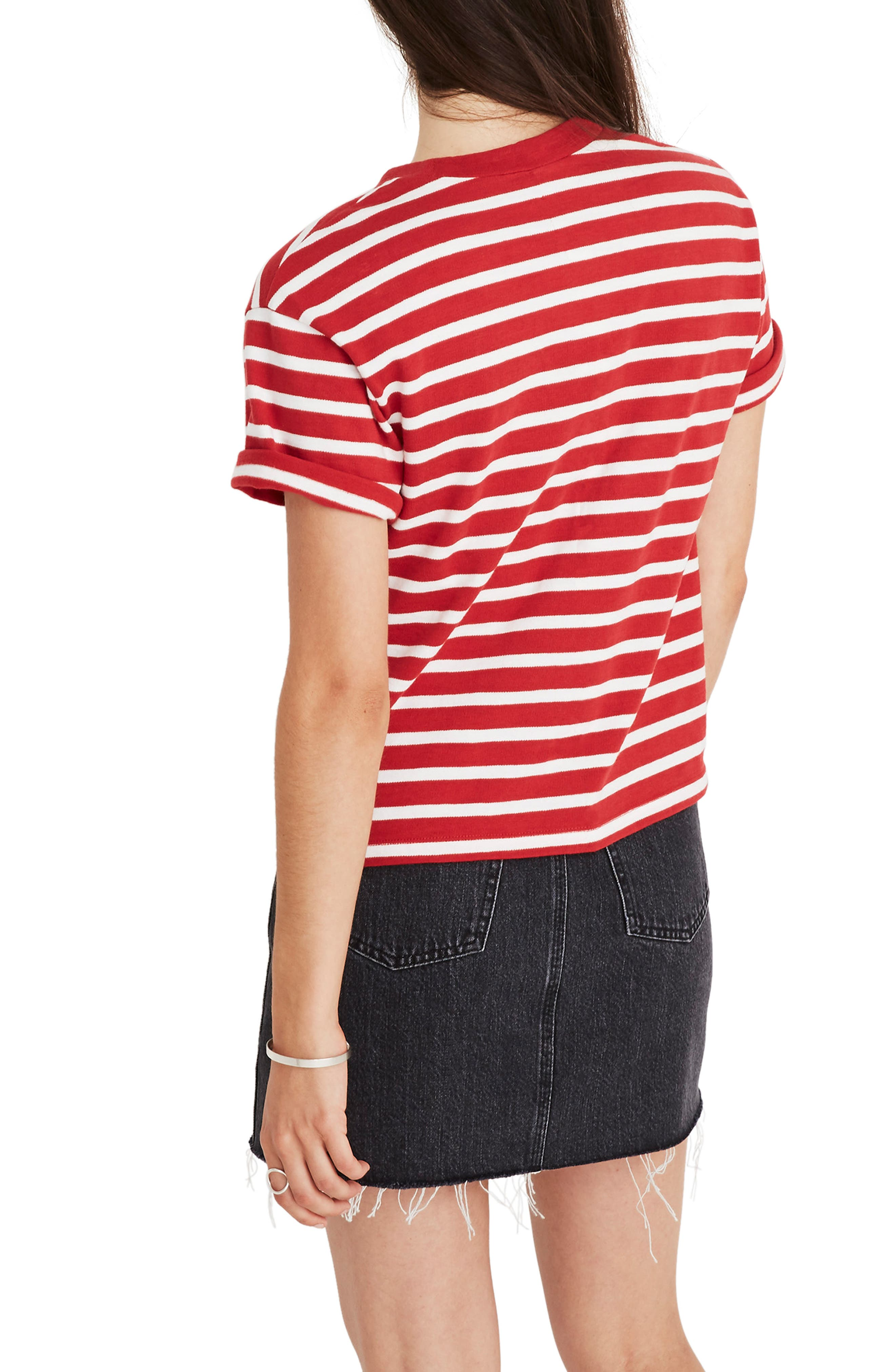 MADEWELL,                             Stripe Ciao for Now Tee,                             Alternate thumbnail 3, color,                             600