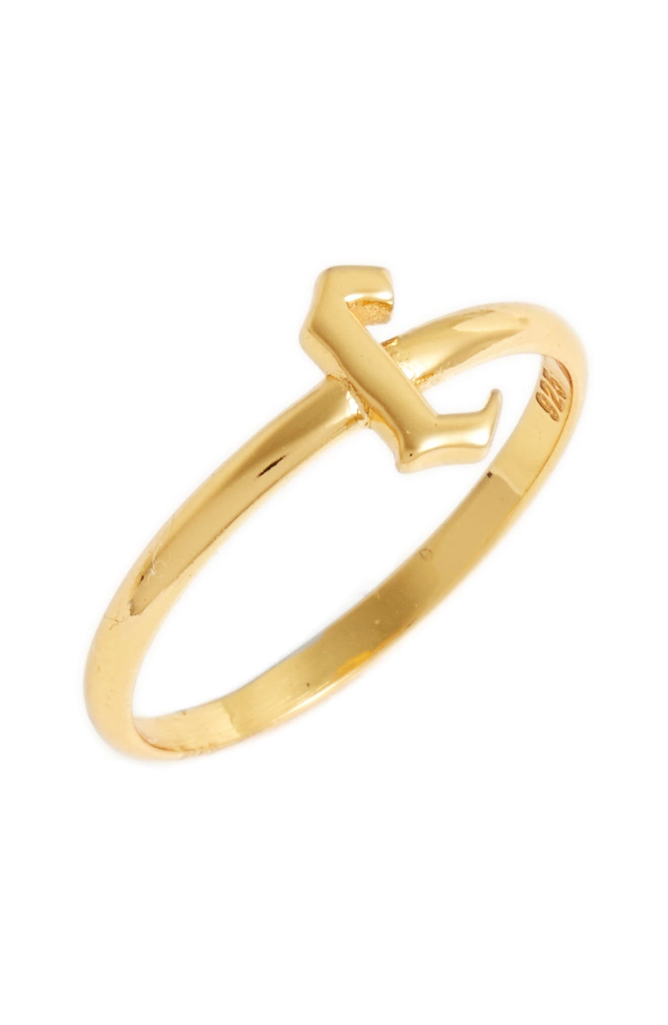 Gothic Initial Ring,                             Main thumbnail 17, color,