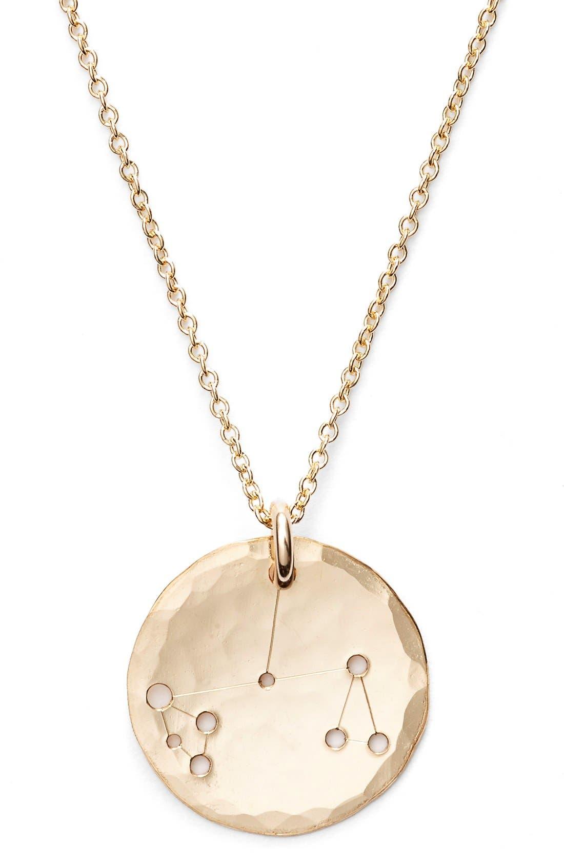 Ija 'Small Zodiac' 14k-Gold Fill Necklace,                             Alternate thumbnail 31, color,