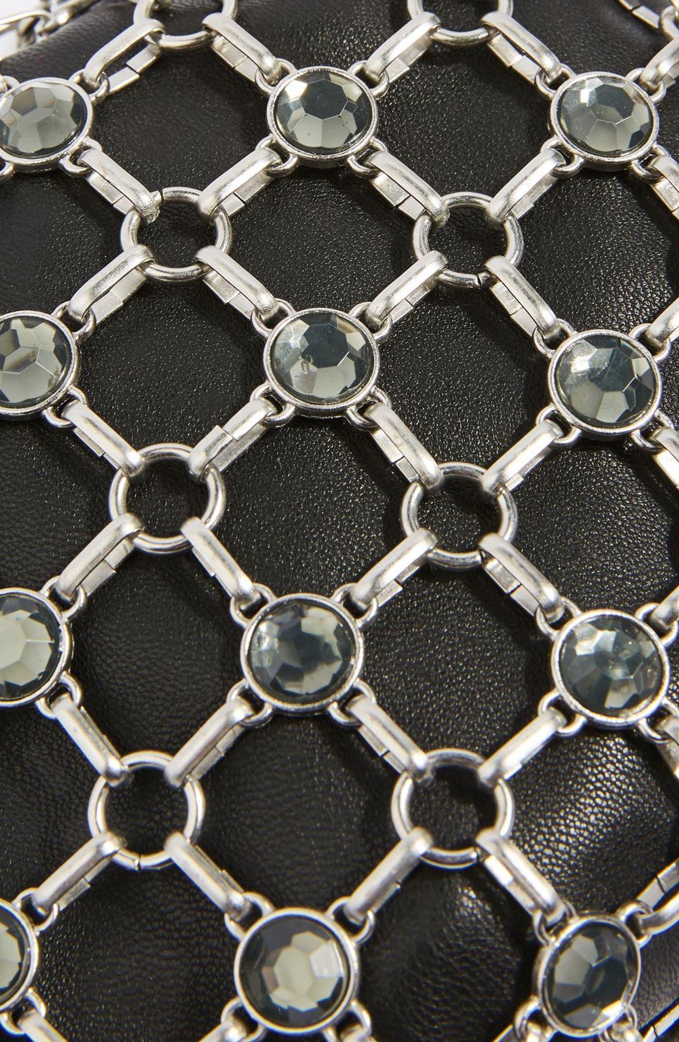 Chain Link Crossbody Bag,                             Alternate thumbnail 4, color,                             001