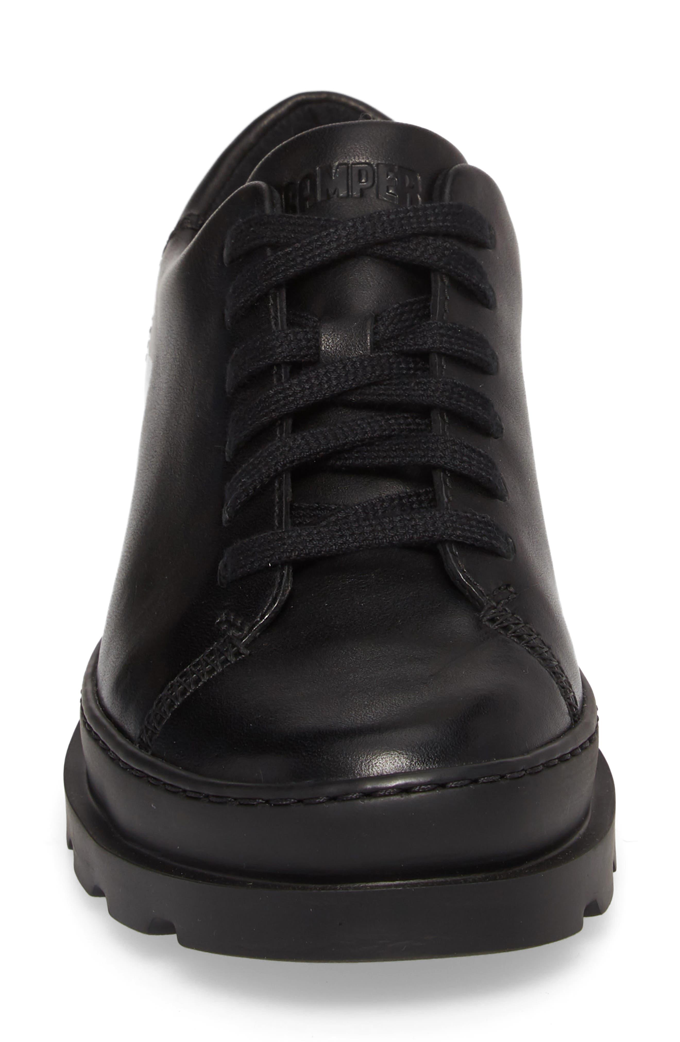 Brutus Sneaker,                             Alternate thumbnail 4, color,                             BLACK LEATHER