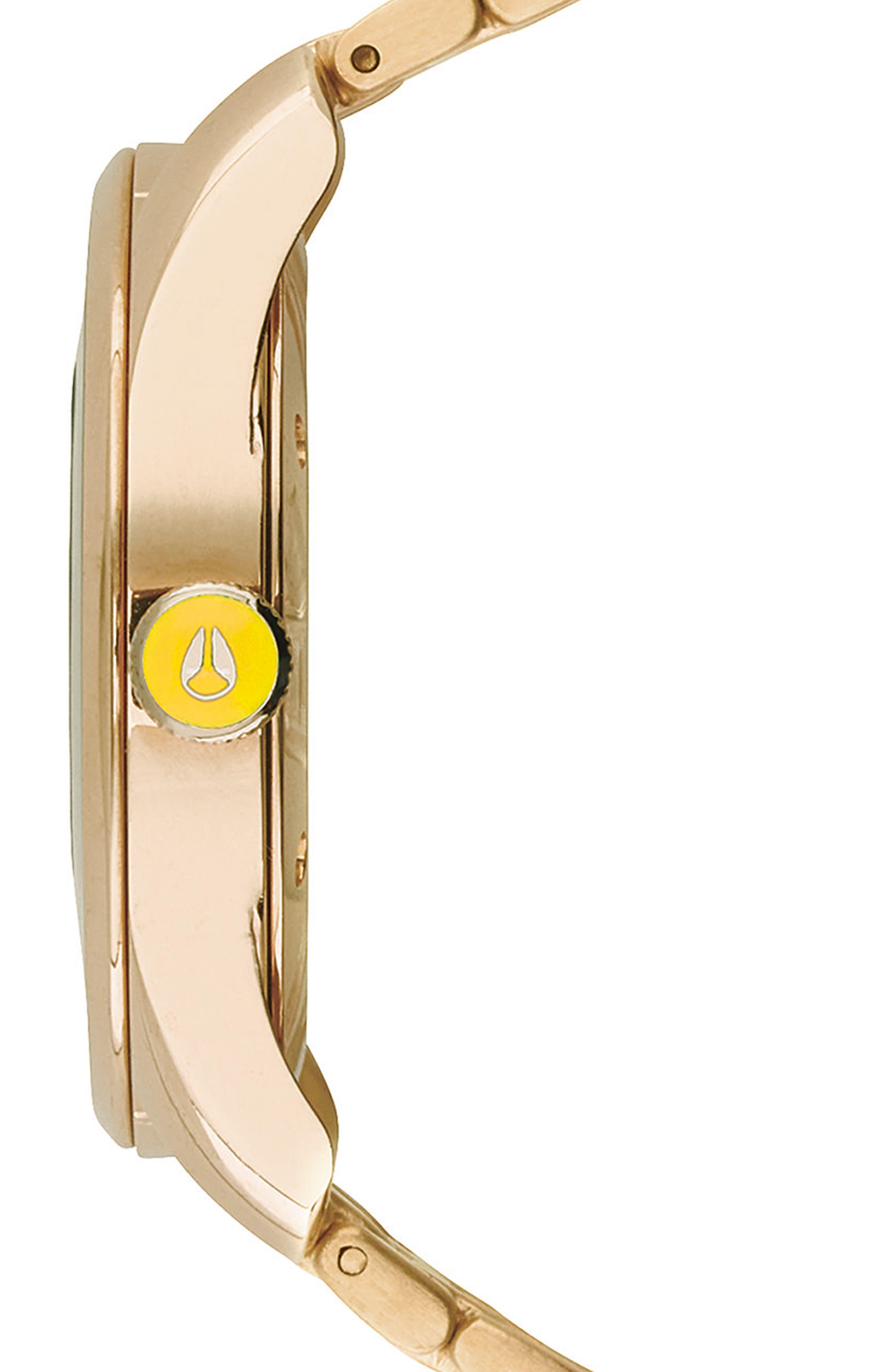 Bullet Bracelet Watch, 38mm,                             Alternate thumbnail 3, color,                             LIGHT GOLD/ YELLOW