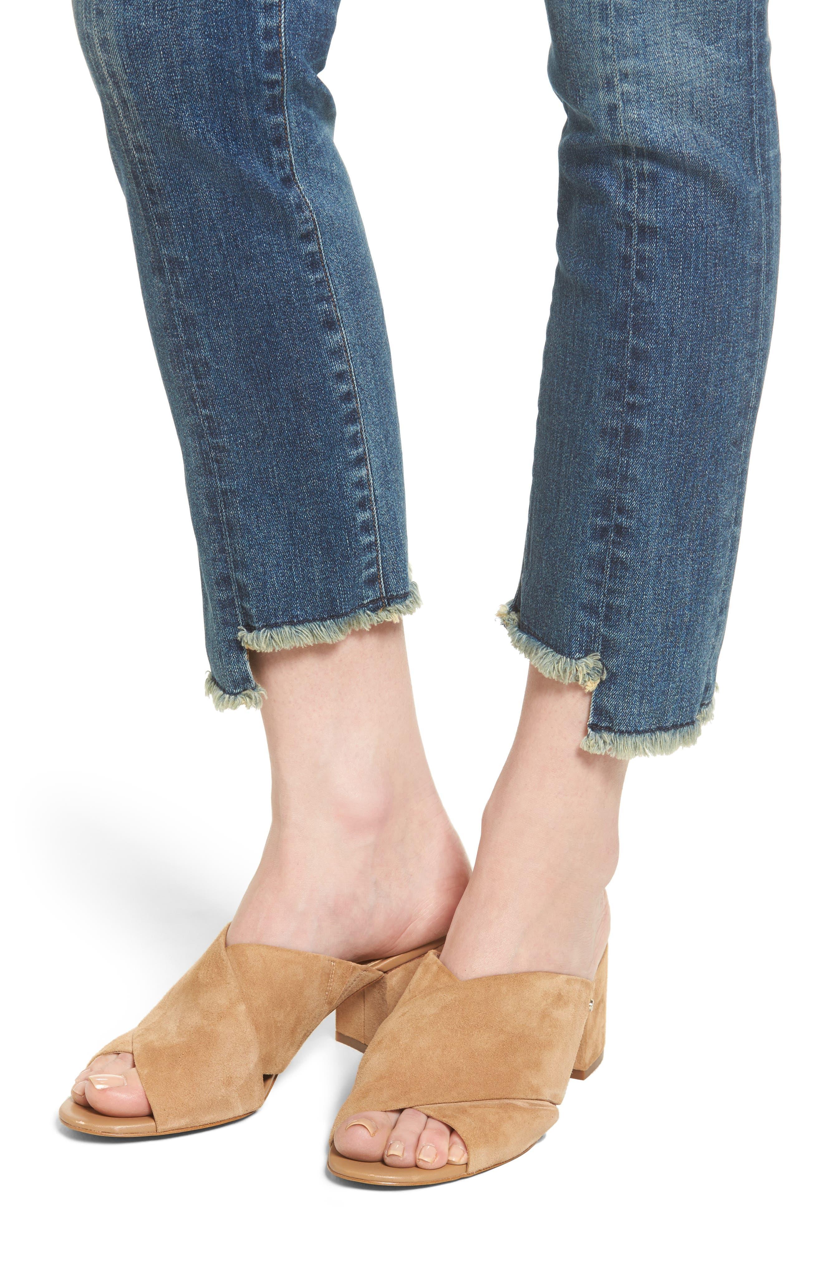 Amari Step Hem Ankle Jeans,                             Alternate thumbnail 4, color,                             429