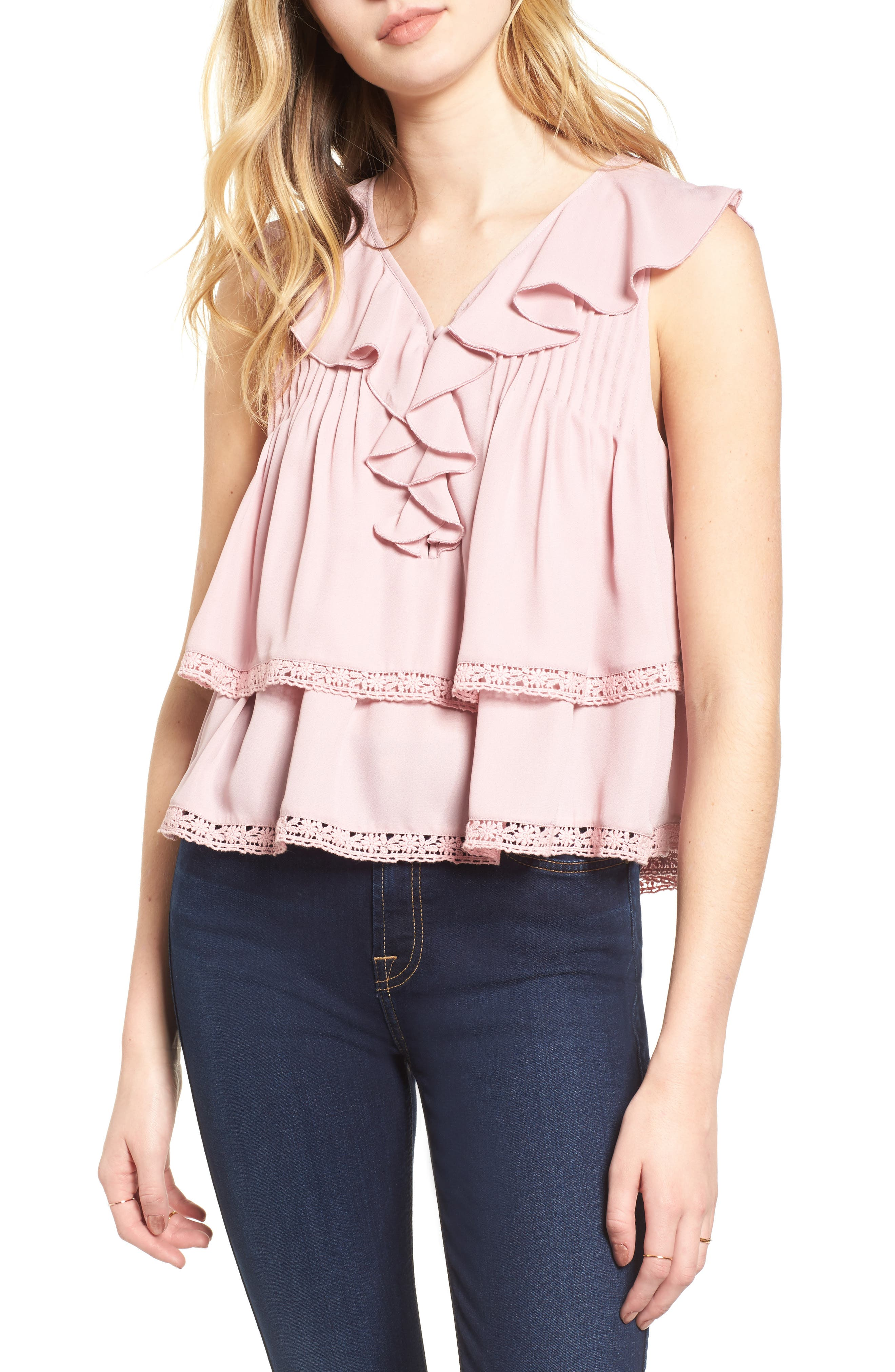 Everly Top,                         Main,                         color, 698