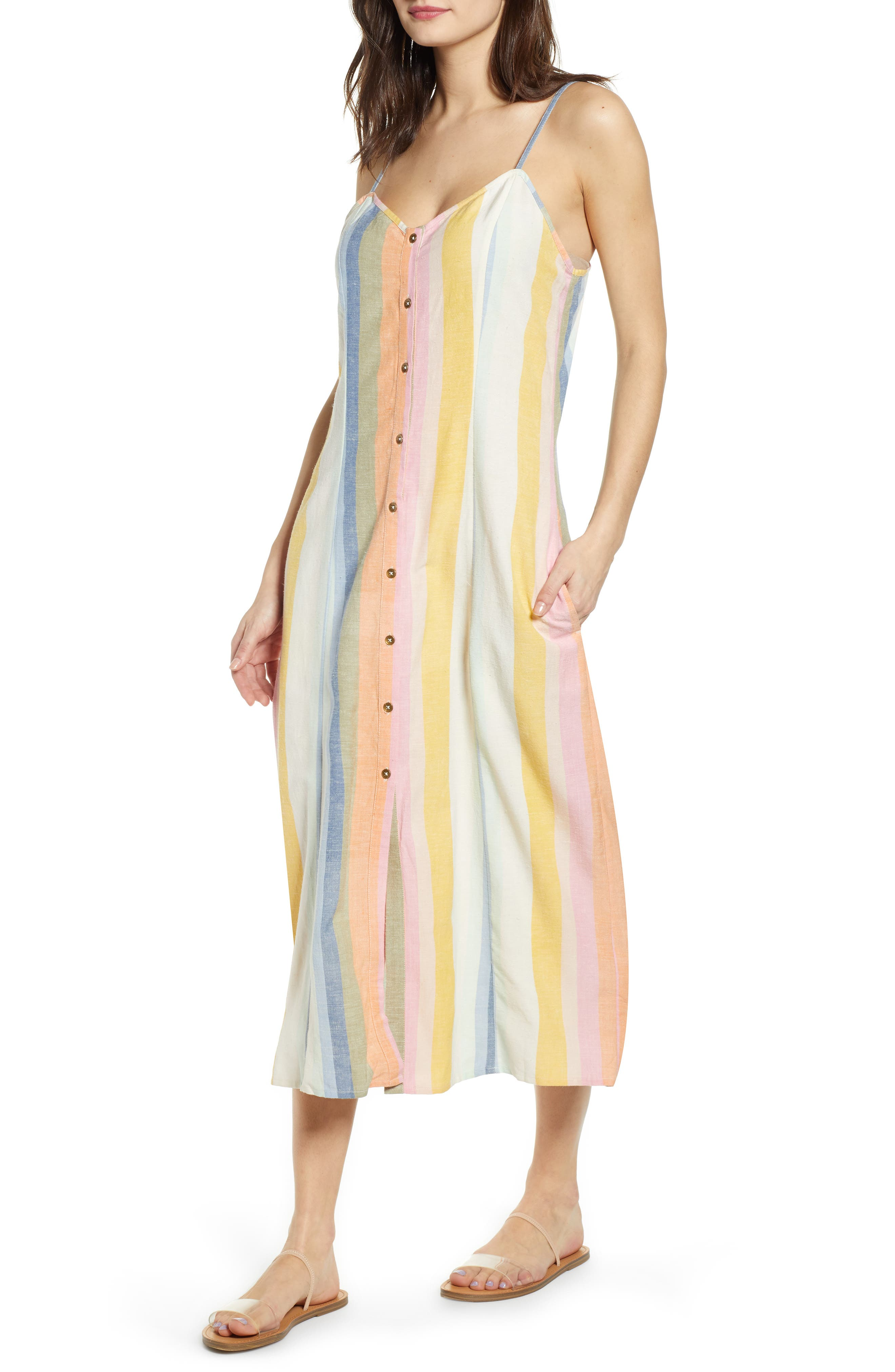 Billabong Lucky Us Midi Dress, Ivory