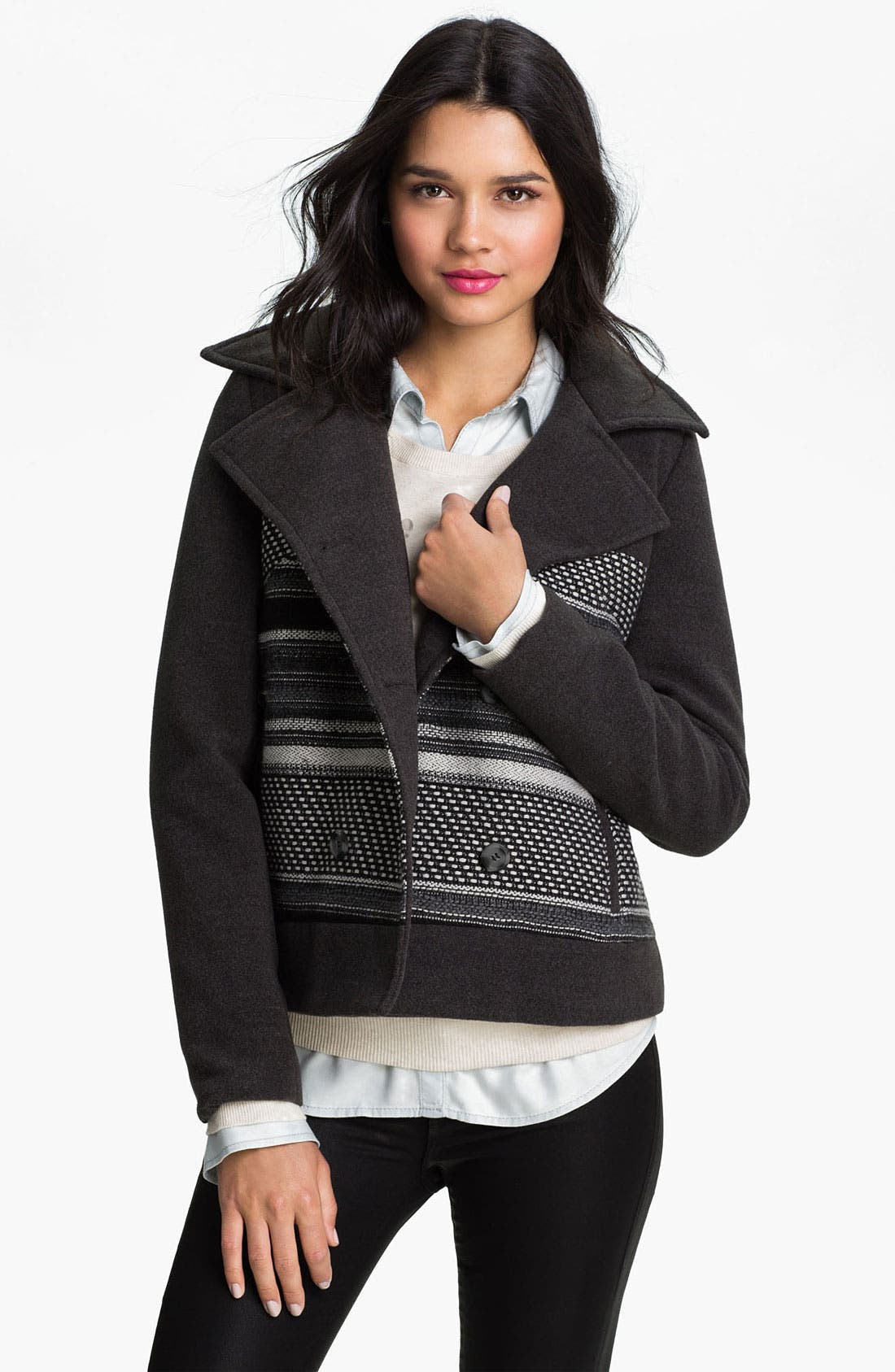 Hooded Peacoat, Main, color, 001