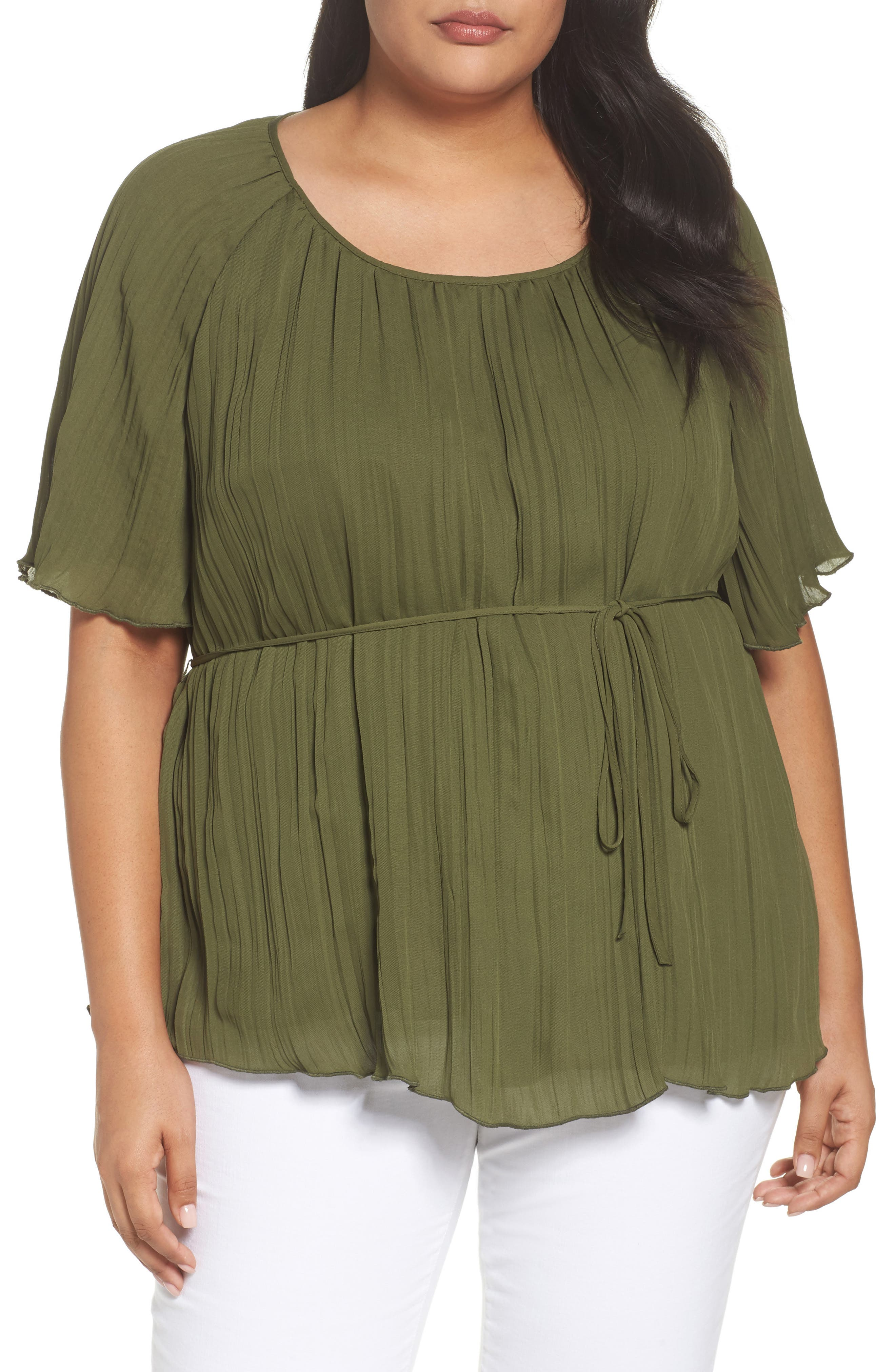 Crinkle Scoop Neck Top,                             Main thumbnail 2, color,