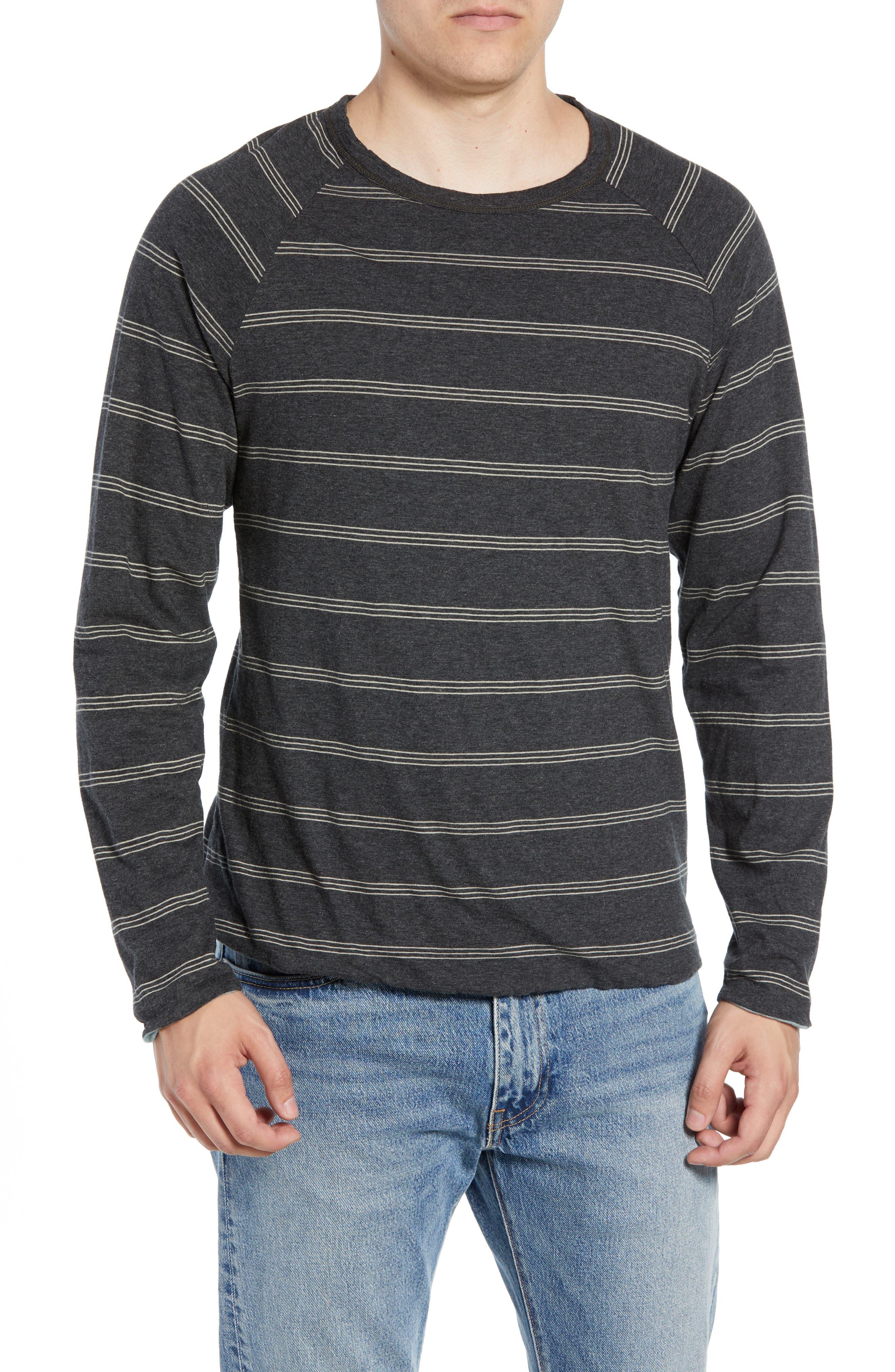 Gunnison Reversible Raglan Sleeve T-Shirt,                         Main,                         color, PHANTOM HEATHER