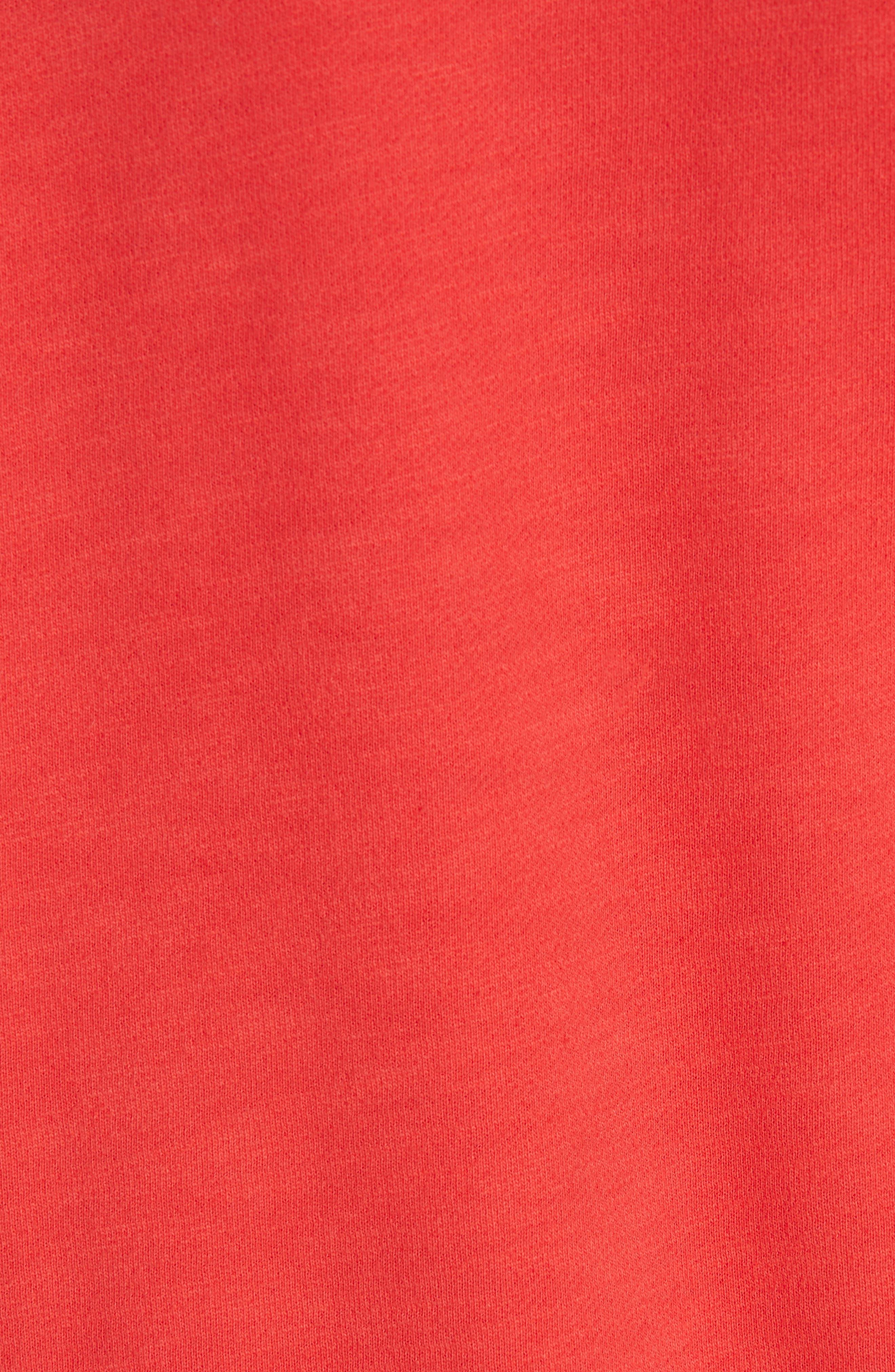 Hello Sweatshirt,                             Alternate thumbnail 5, color,                             CANDY APPLE