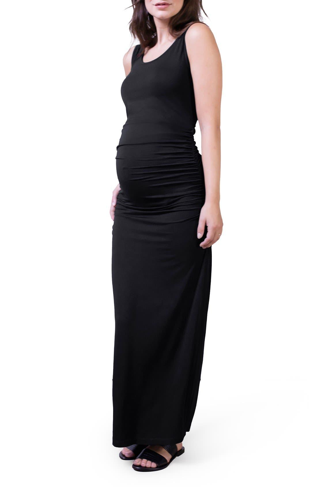 'Lisle' Maternity Maxi Tank Dress,                             Main thumbnail 1, color,                             001