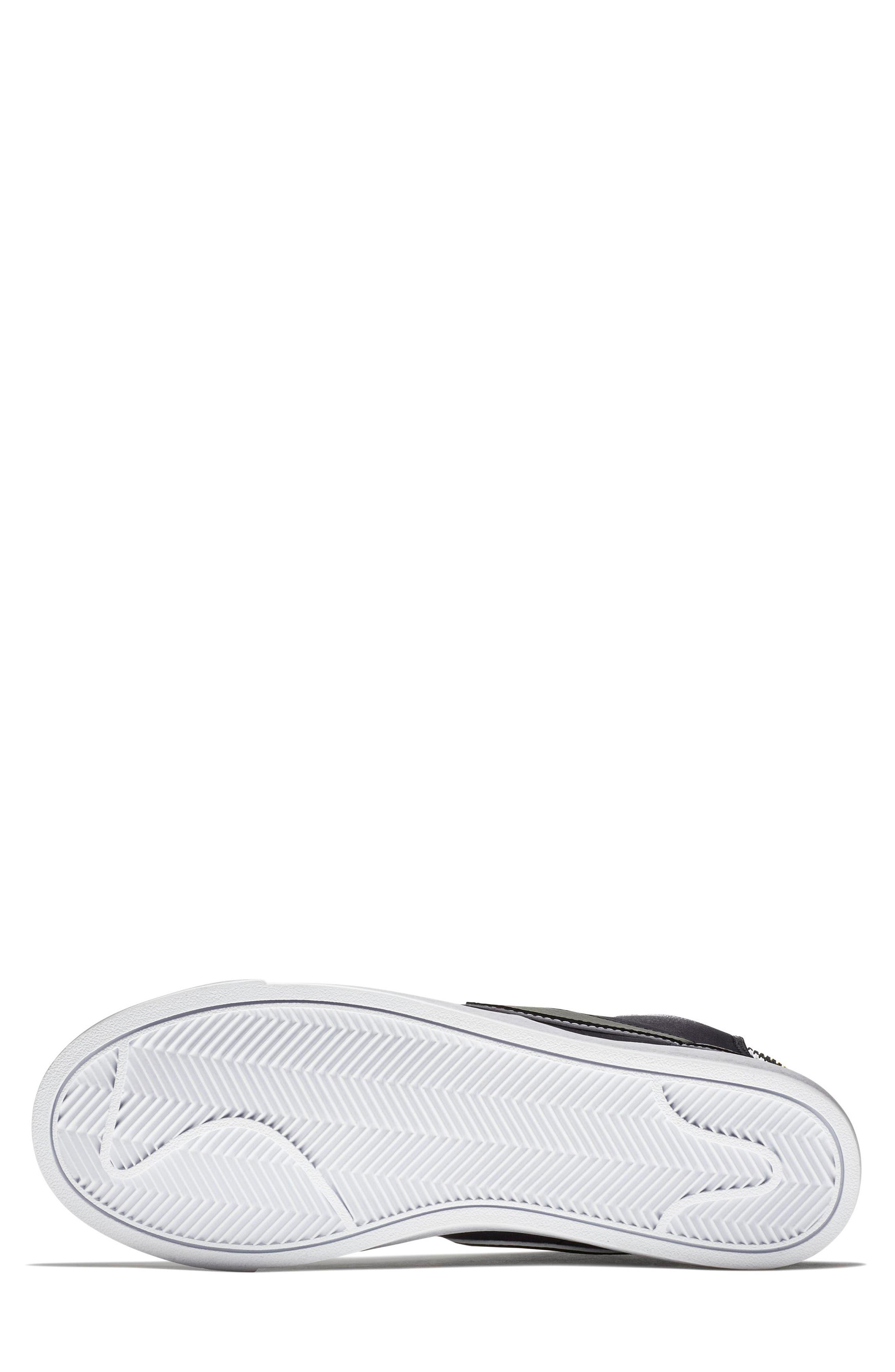 Blazer Mid Top Sneaker,                             Alternate thumbnail 5, color,                             BLACK/ BLACK