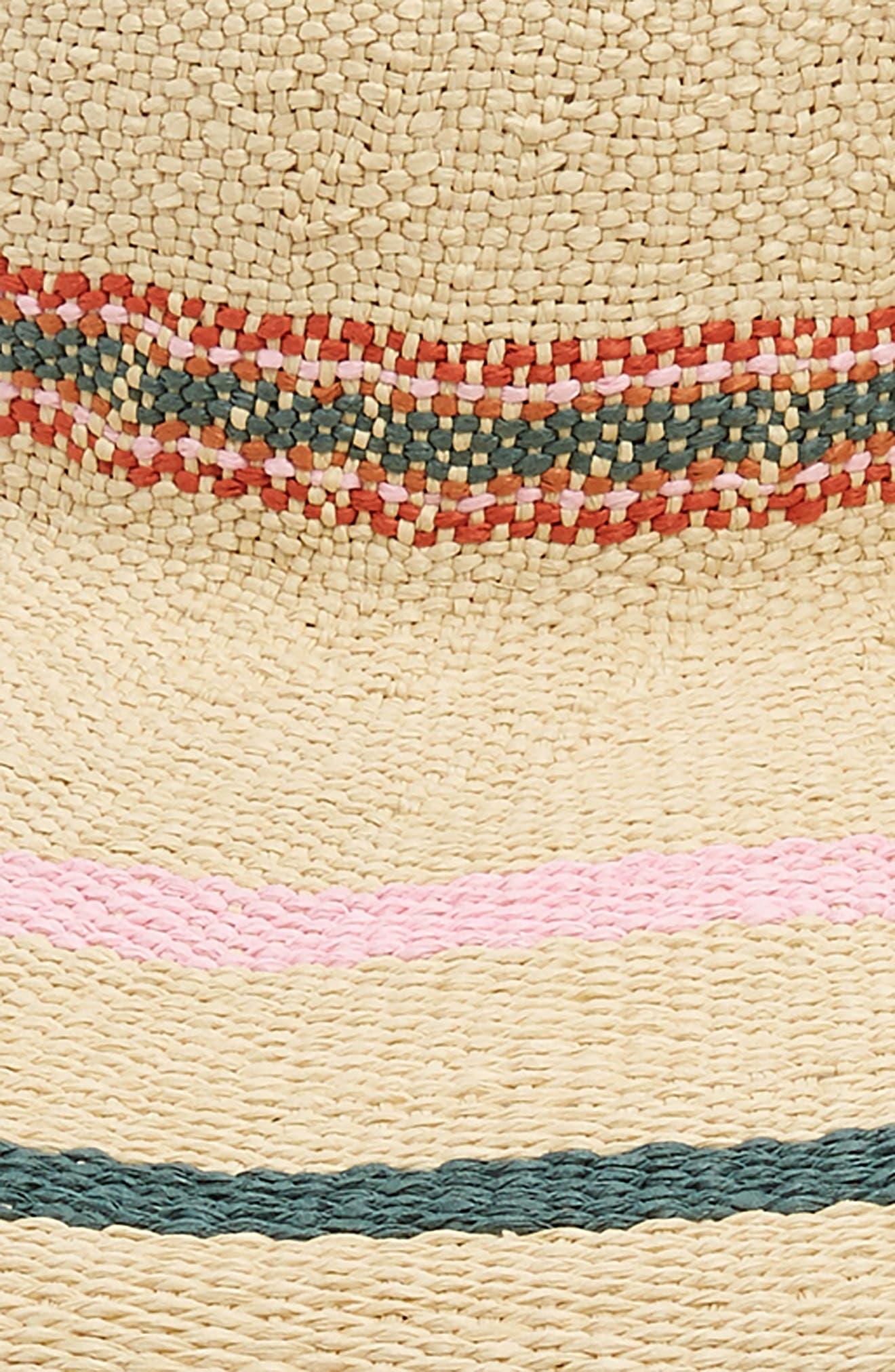 x Biltmore Tulum Stripe Straw Hat,                             Alternate thumbnail 2, color,                             MULTI STRIPE