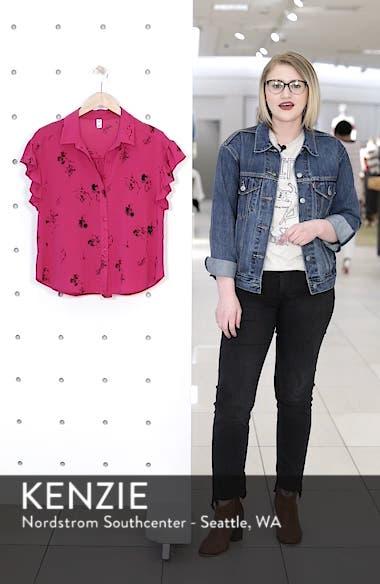Ruffle Sleeve Print Shirt, sales video thumbnail