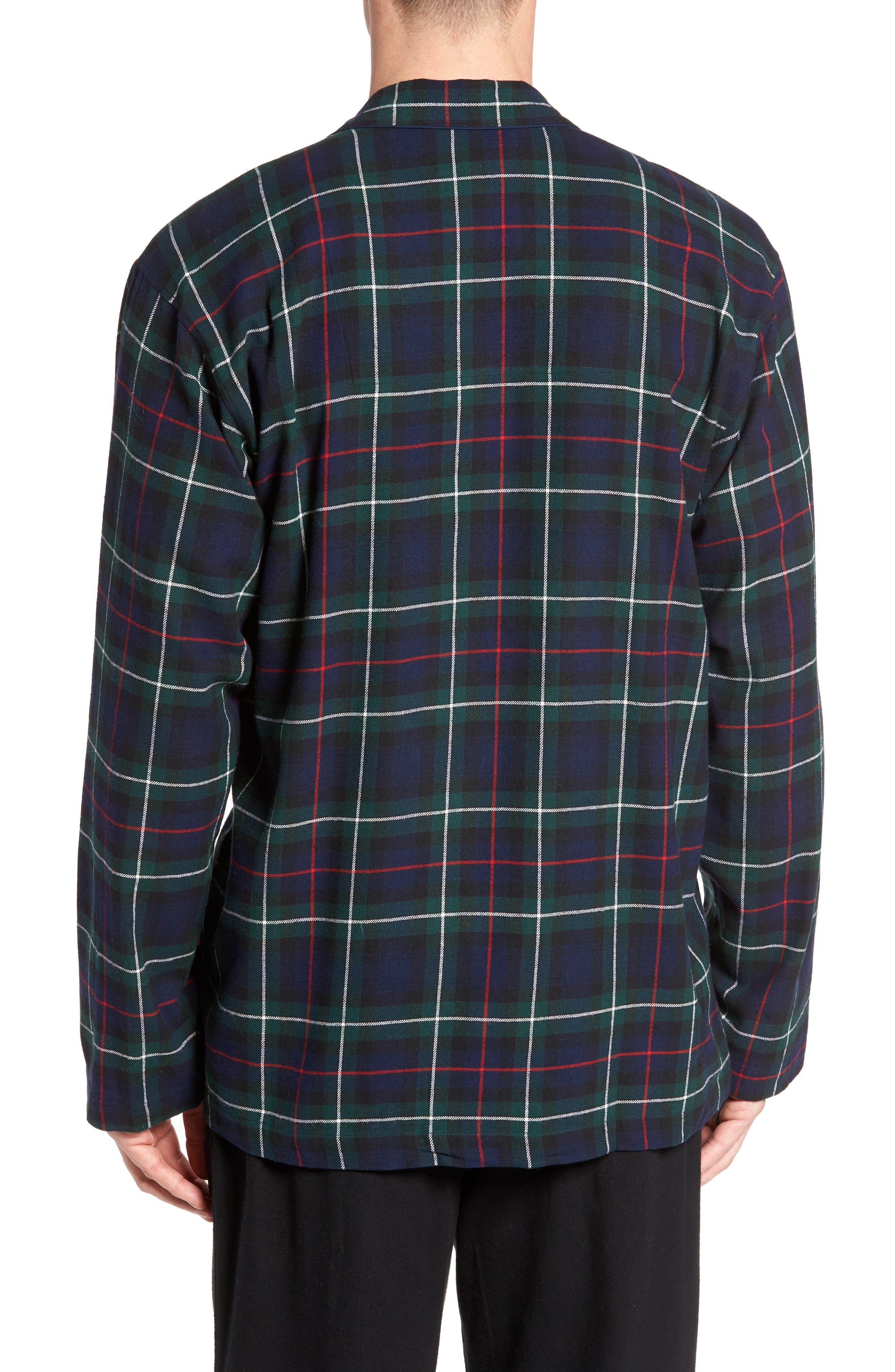 Polo Ralph Lauren Flannel Pajama Shirt,                             Alternate thumbnail 6, color,