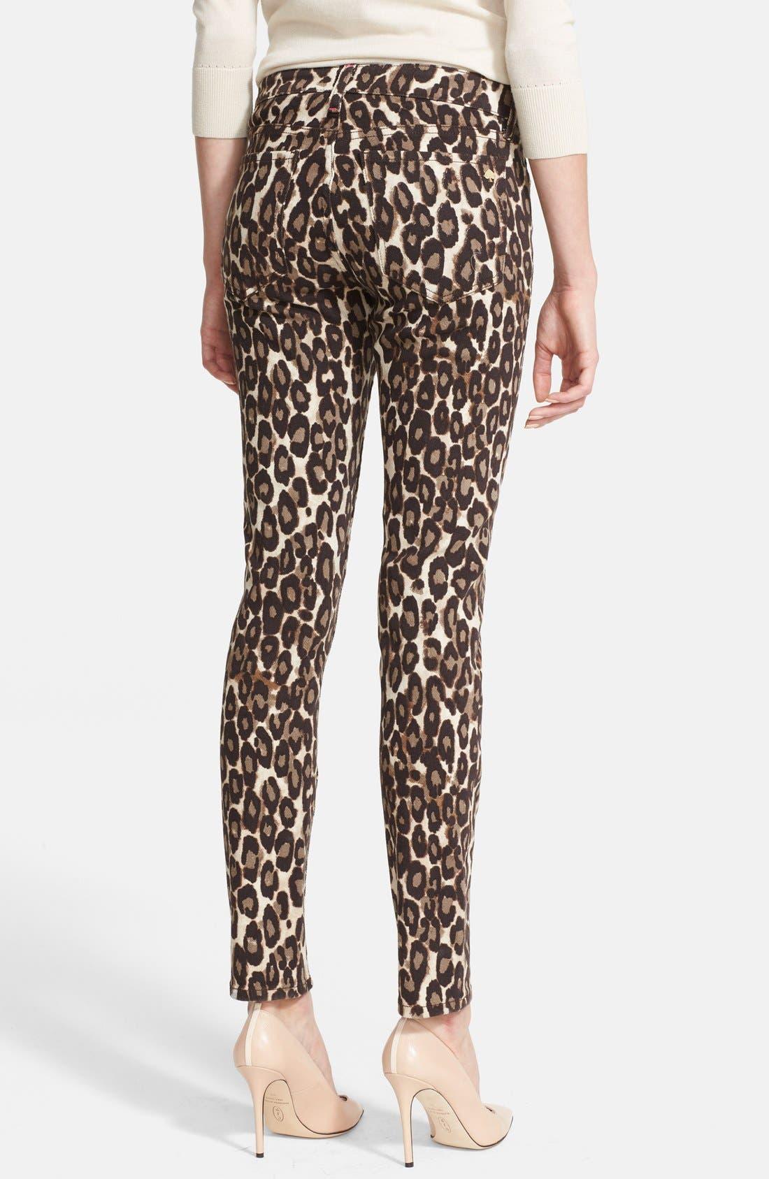 'broome street' leopard print jeans,                             Alternate thumbnail 2, color,                             200