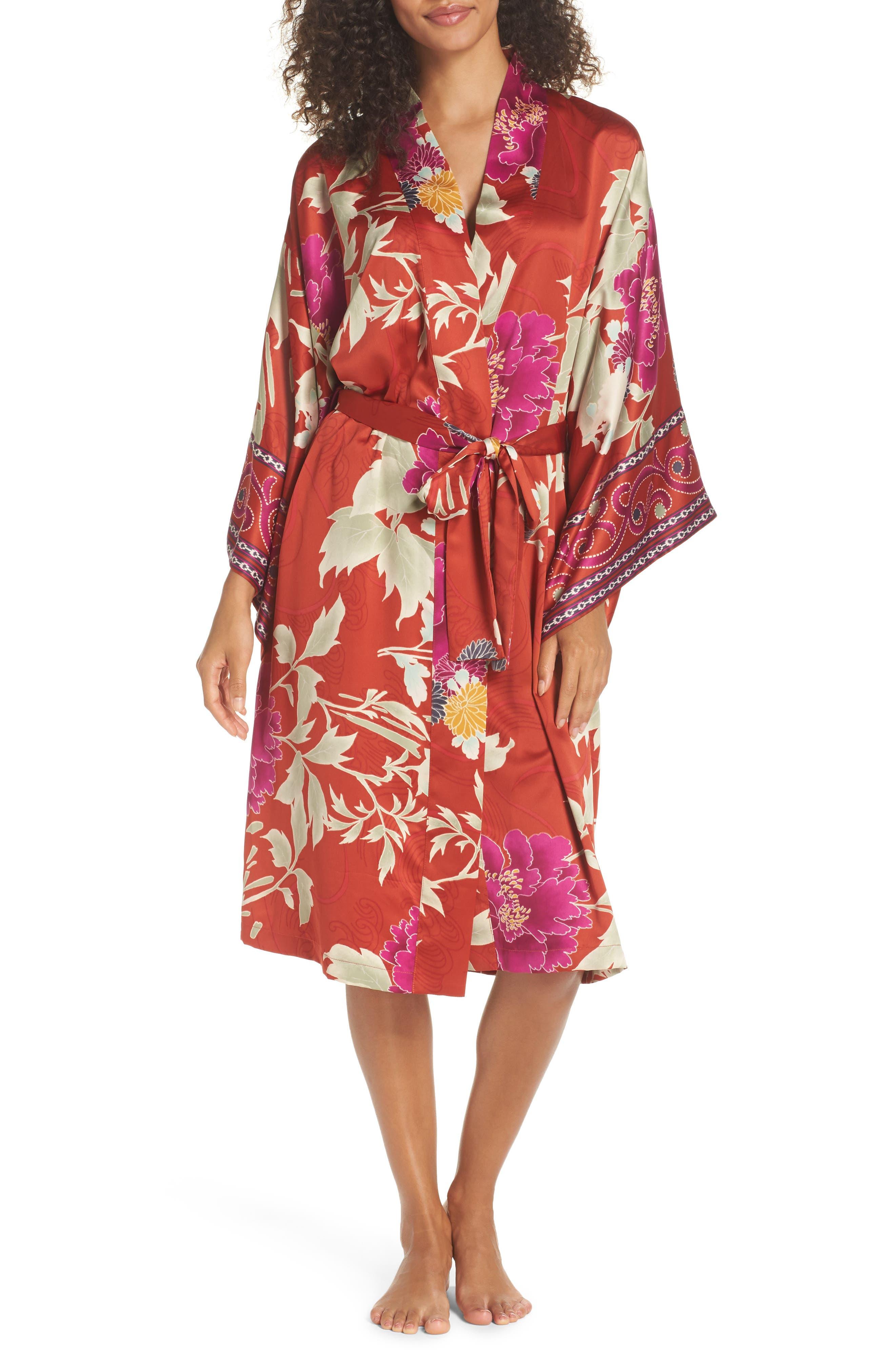 Auburn Floral Print Wrap,                         Main,                         color, 600