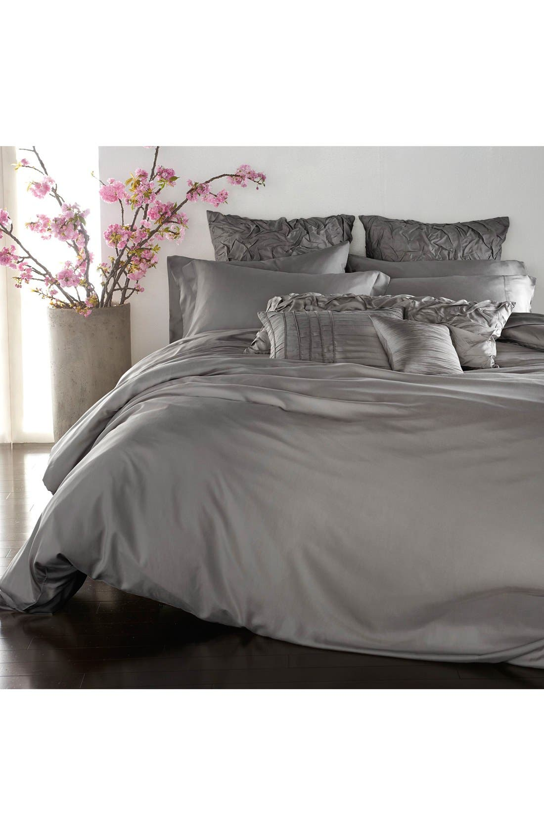 Donna Karan Collection 'Silk Essentials' Habutai Silk Duvet Cover,                             Main thumbnail 1, color,                             020
