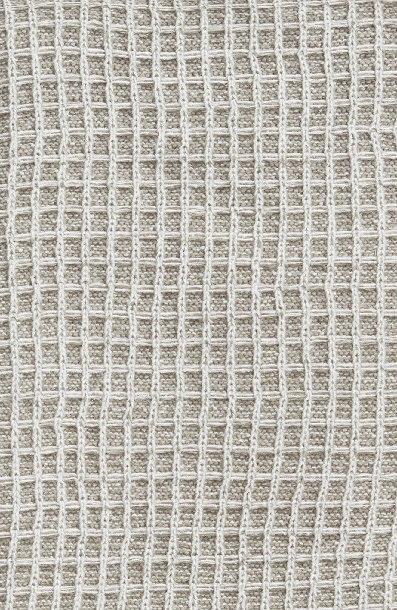 TREASURE & BOND,                             Soft Waffle Grid Throw Blanket,                             Alternate thumbnail 2, color,                             GREY WEATHER MULTI