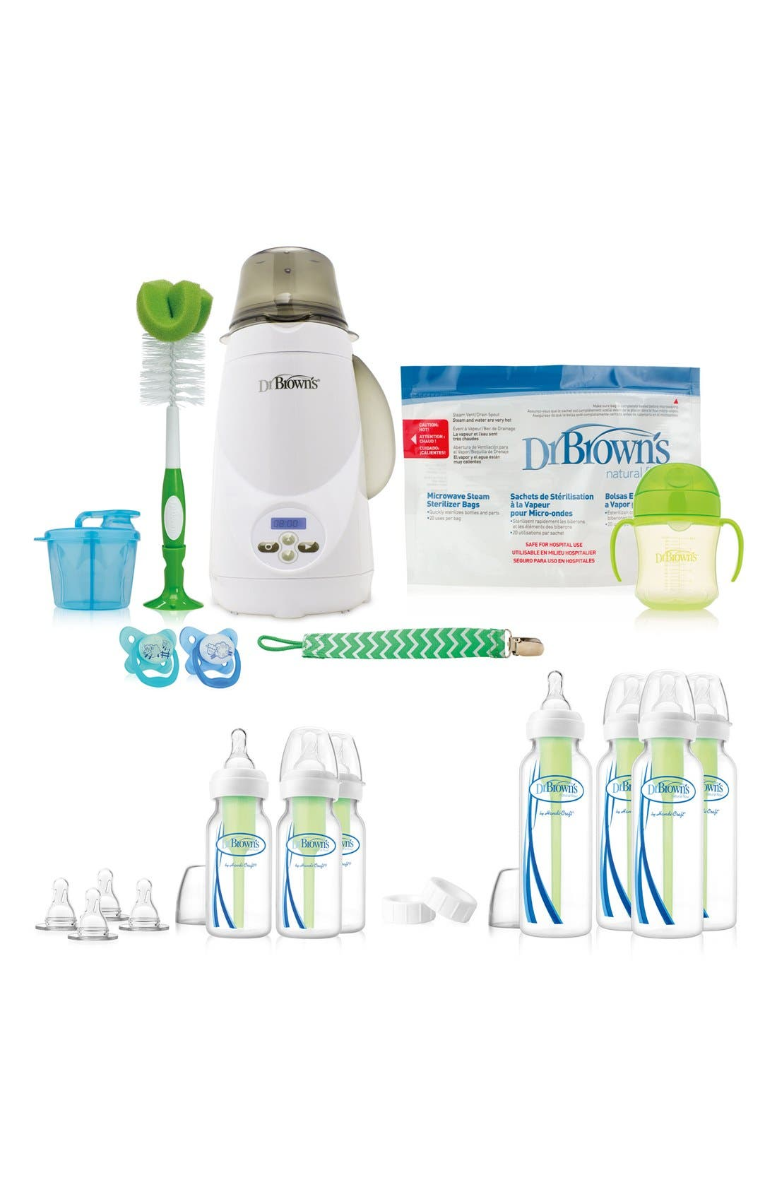 All-in-One Baby Bottle Gift Set,                             Main thumbnail 1, color,                             WHITE