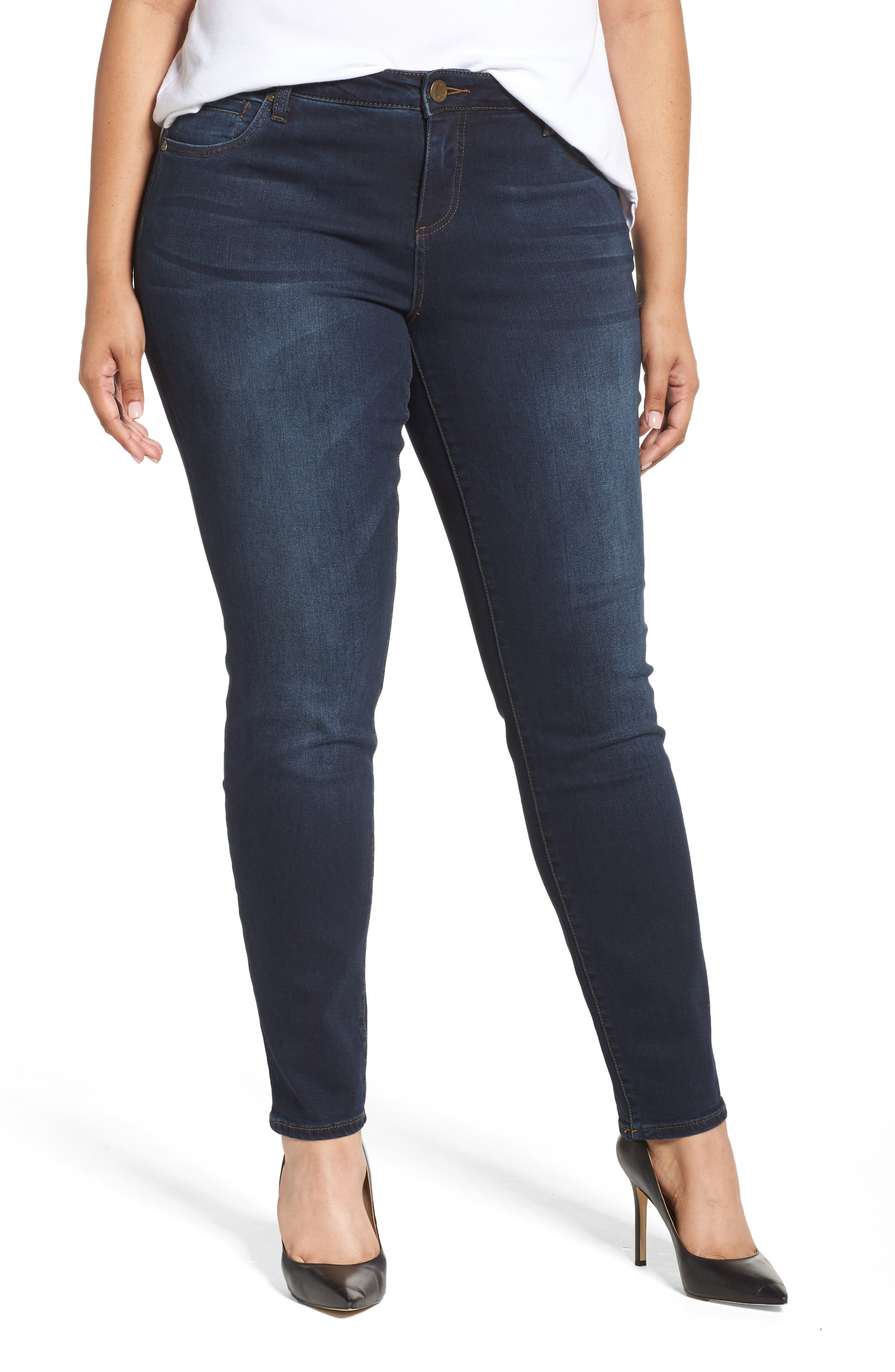 Plus Size Kut From The Kloth Diana Skinny Jeans, Blue