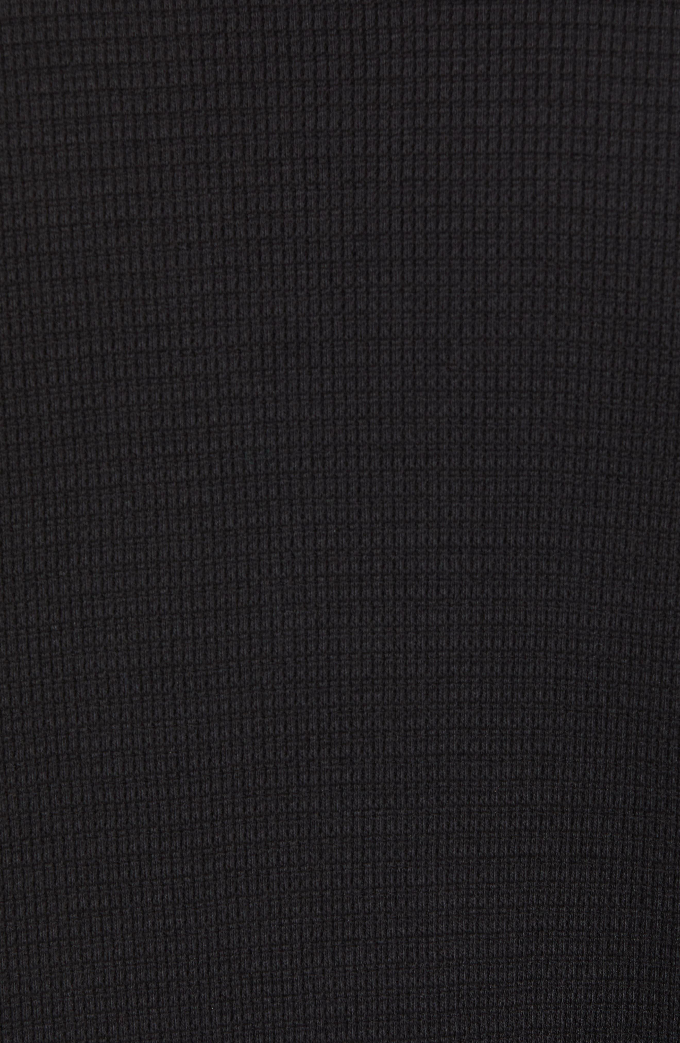 Regular Fit Waffle Knit T-Shirt,                             Alternate thumbnail 5, color,                             BLACK