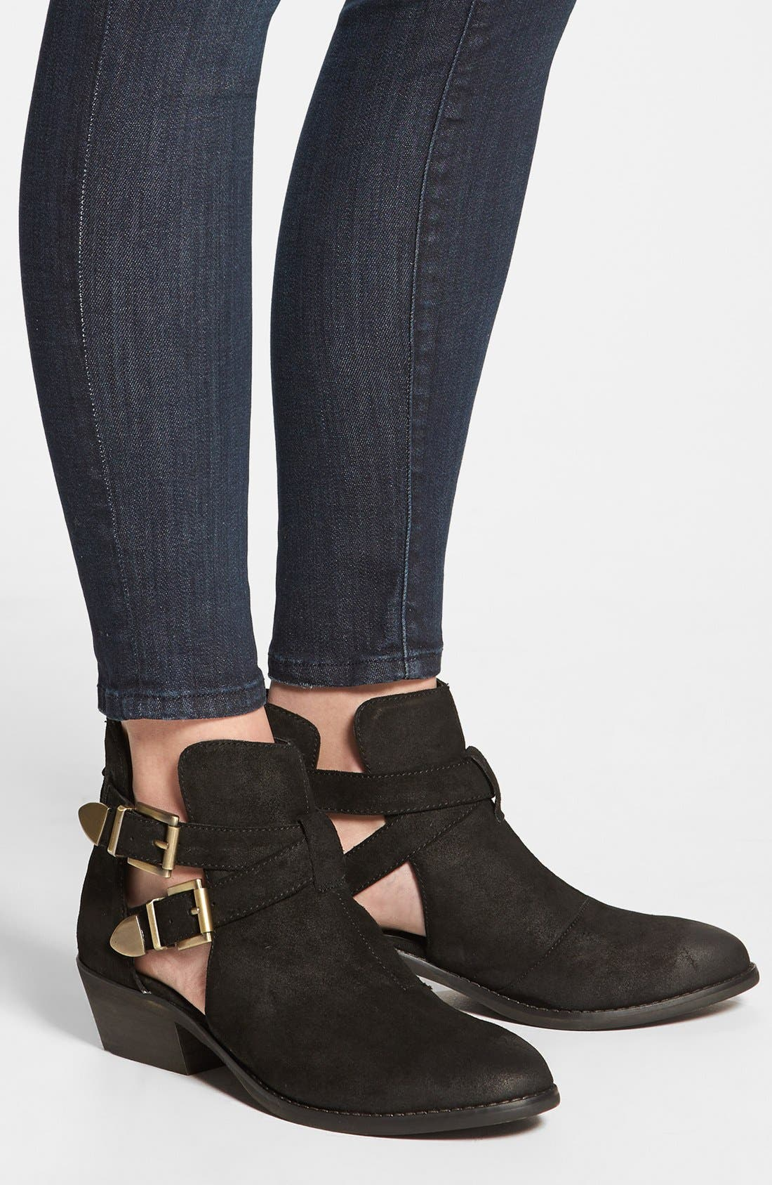 STEVE MADDEN,                             'Cinch' Bootie,                             Alternate thumbnail 4, color,                             006