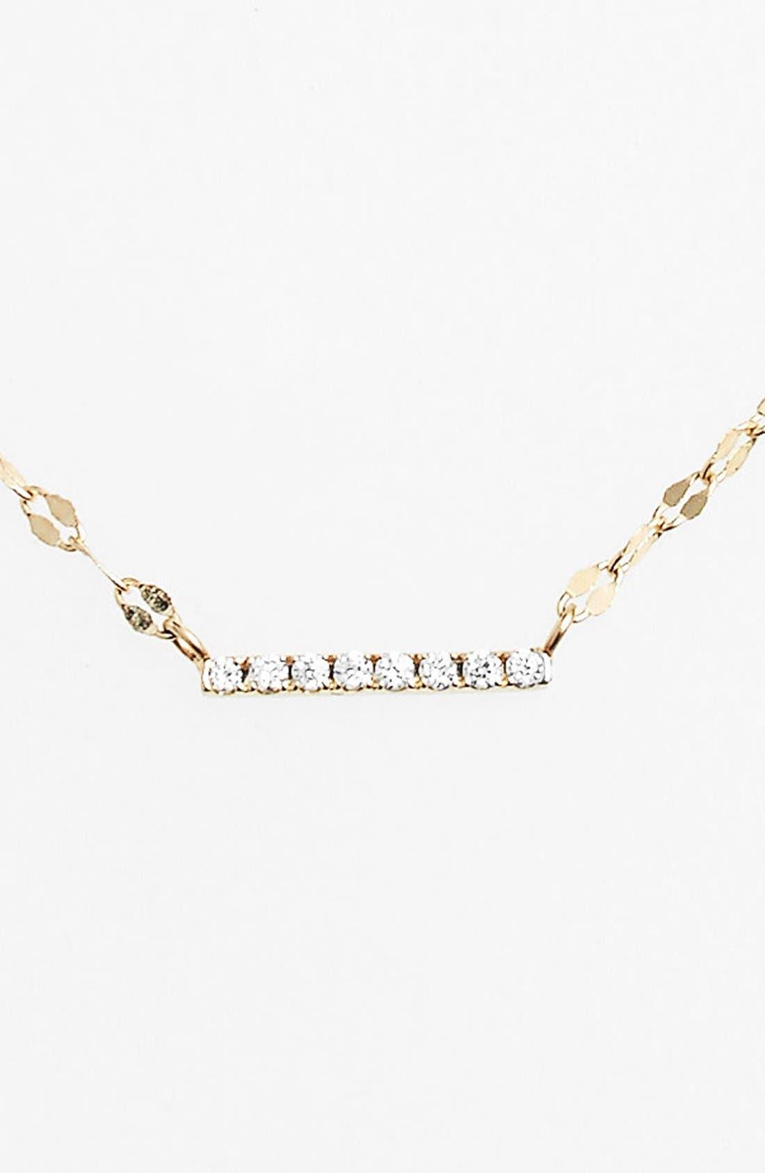 Diamond Pendant Necklace,                         Main,                         color, DIAMOND BAR