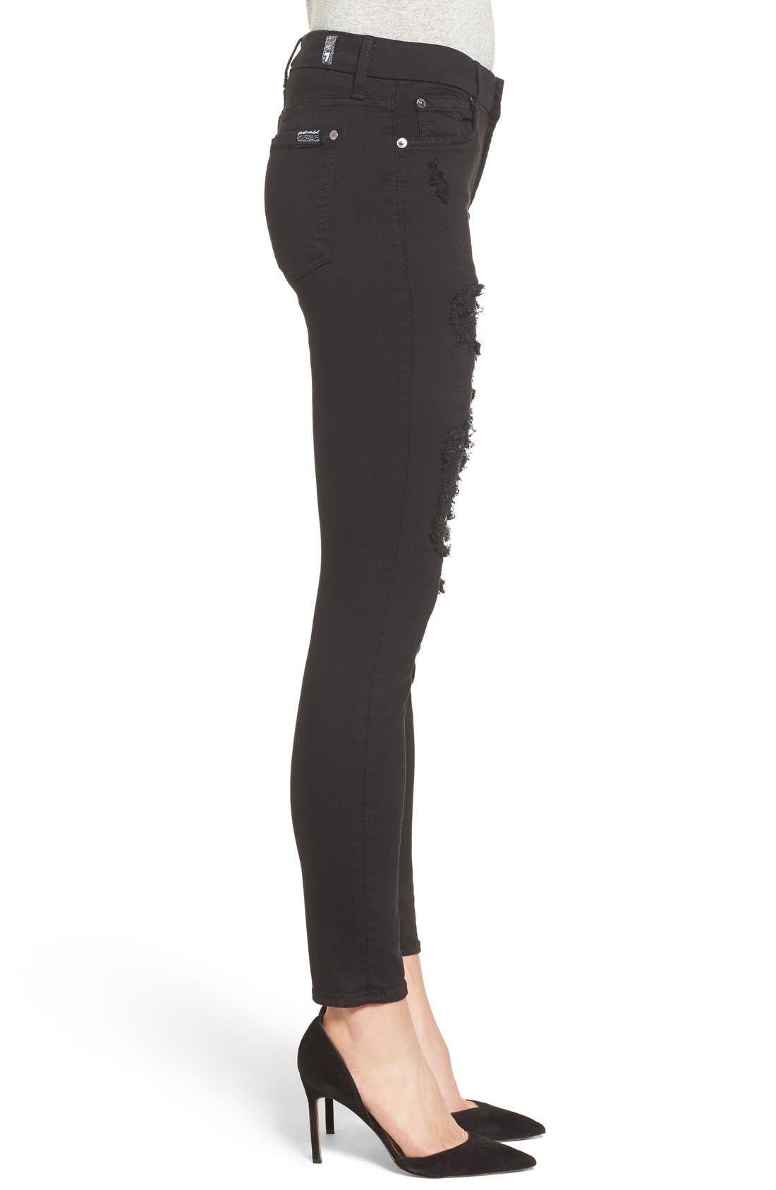 Coated Ankle Skinny Jeans,                             Alternate thumbnail 14, color,