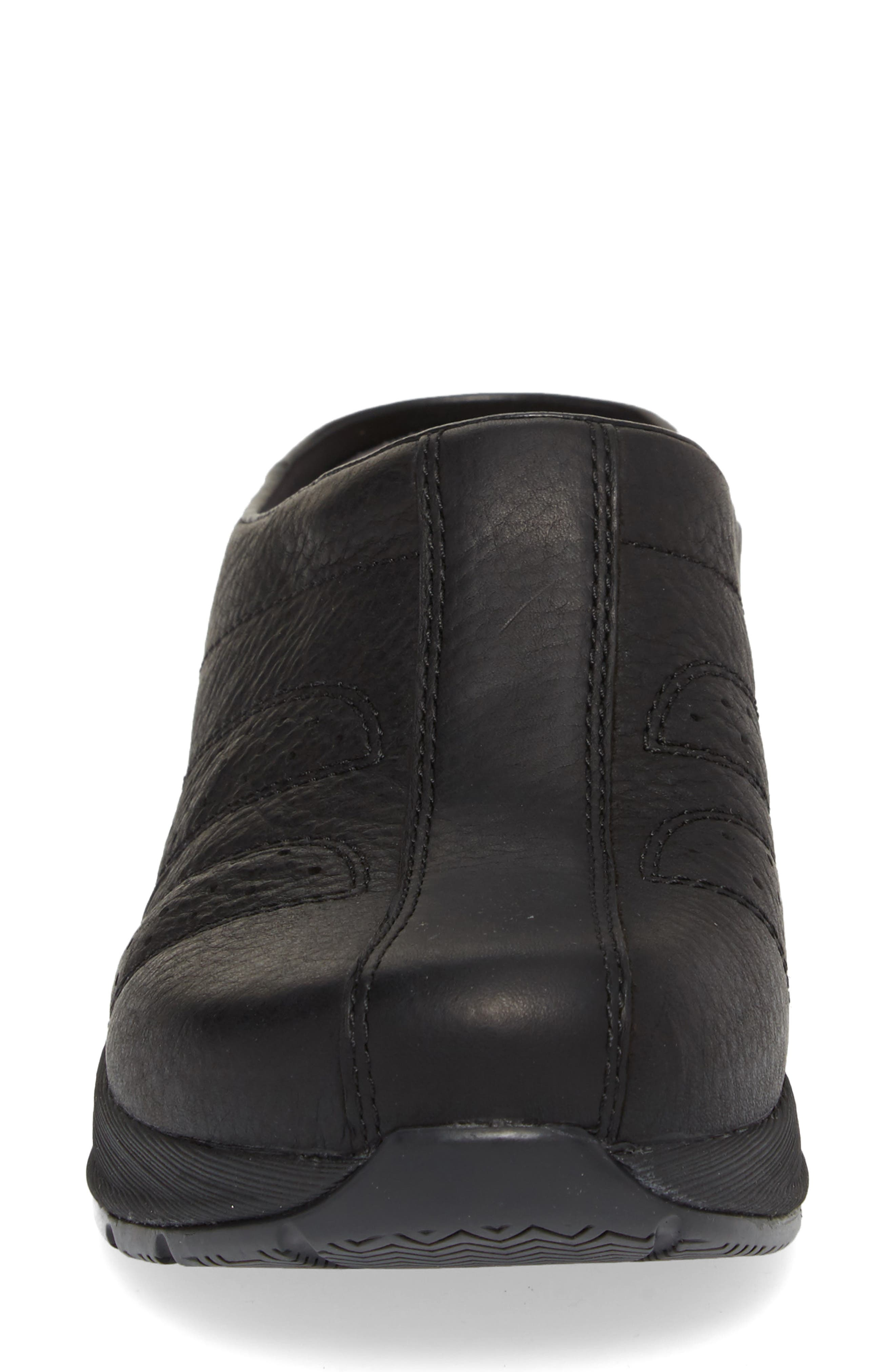 Dankso Shelly Mule,                             Alternate thumbnail 4, color,                             BLACK LEATHER