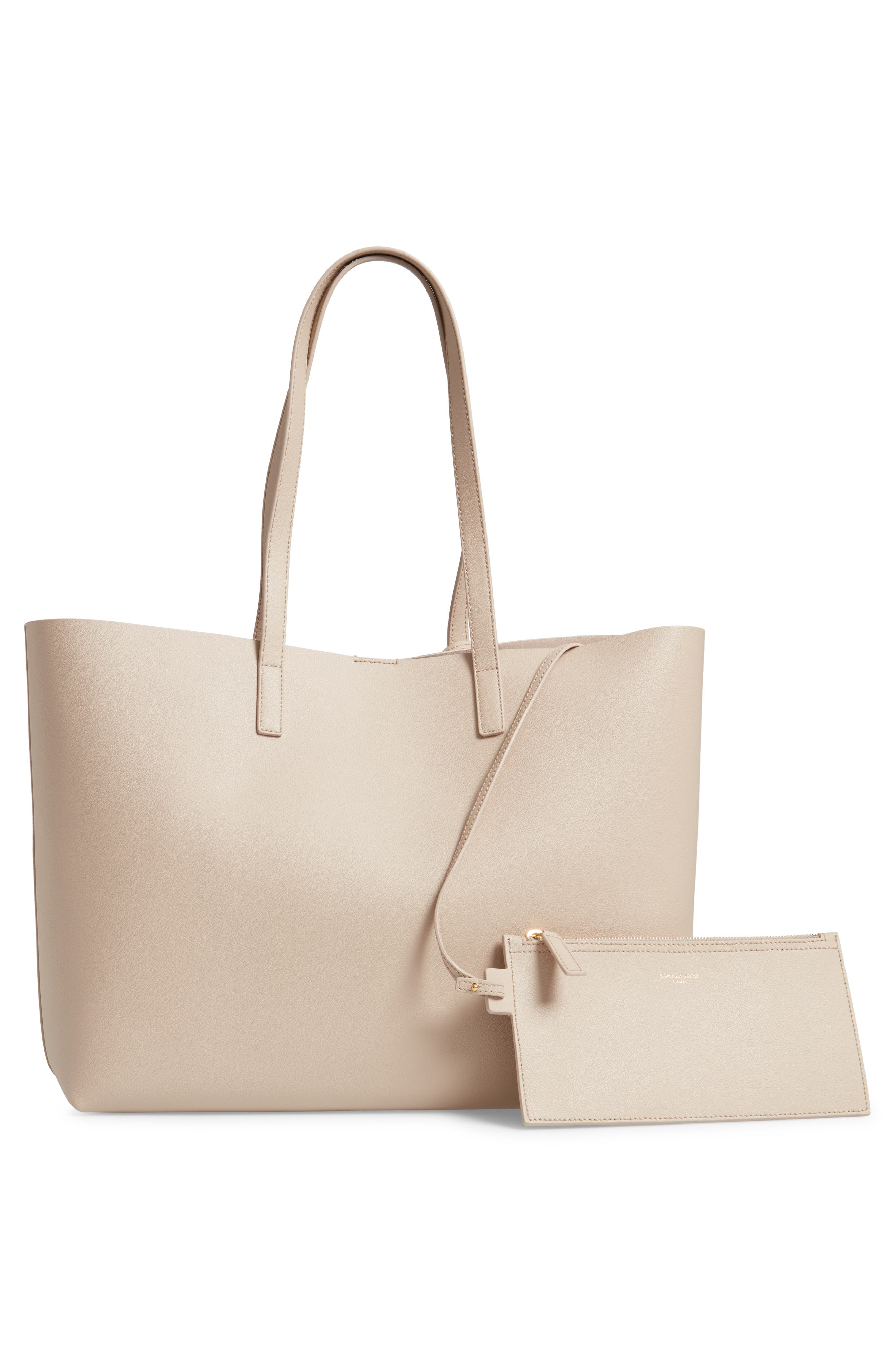 'Shopping' Leather Tote,                             Alternate thumbnail 3, color,                             CREMASOFT