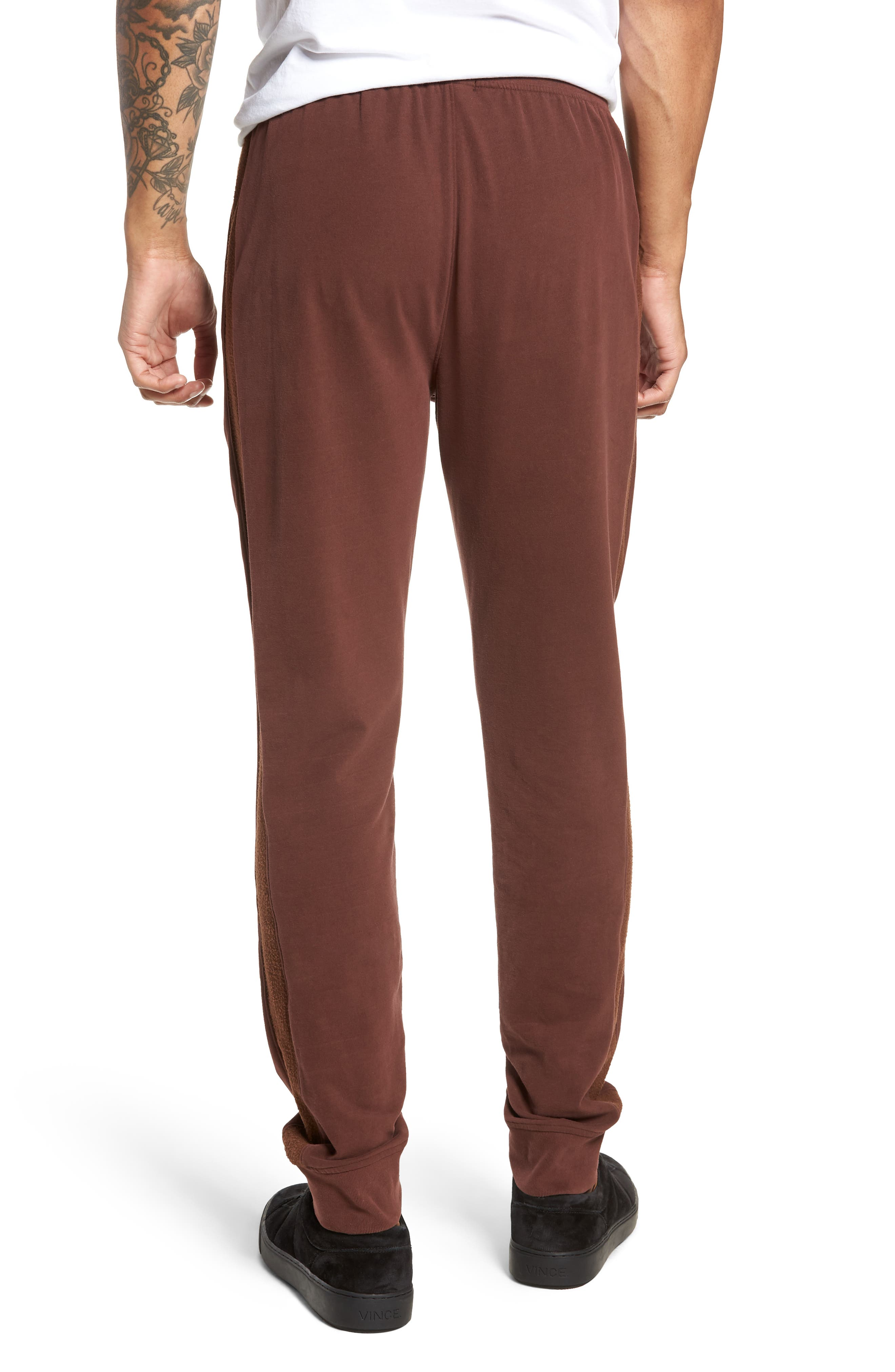 Slim Fit Sweatpants,                             Alternate thumbnail 2, color,                             WINE