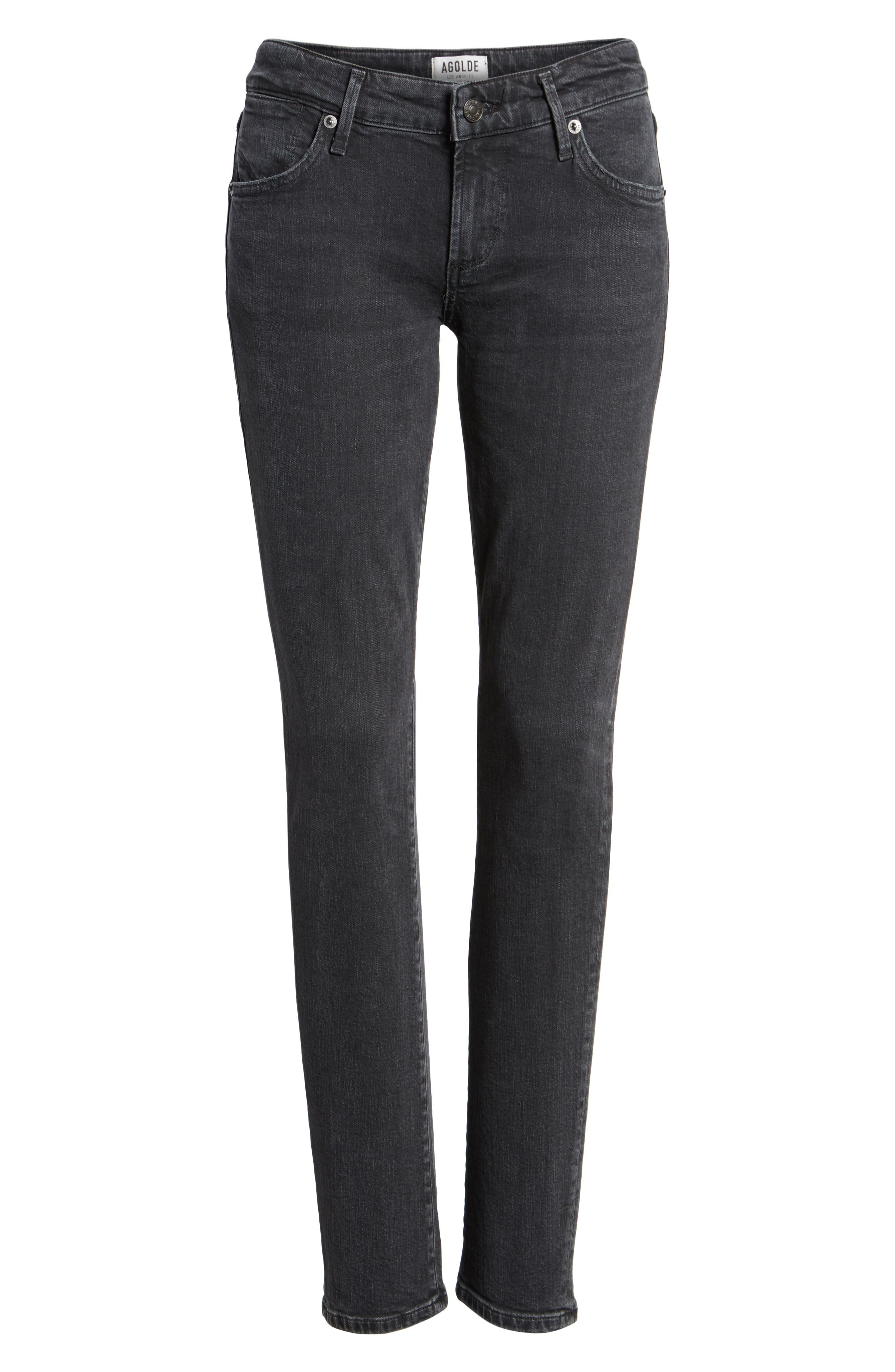 Chloe Low Rise Slim Jeans,                             Alternate thumbnail 6, color,                             072