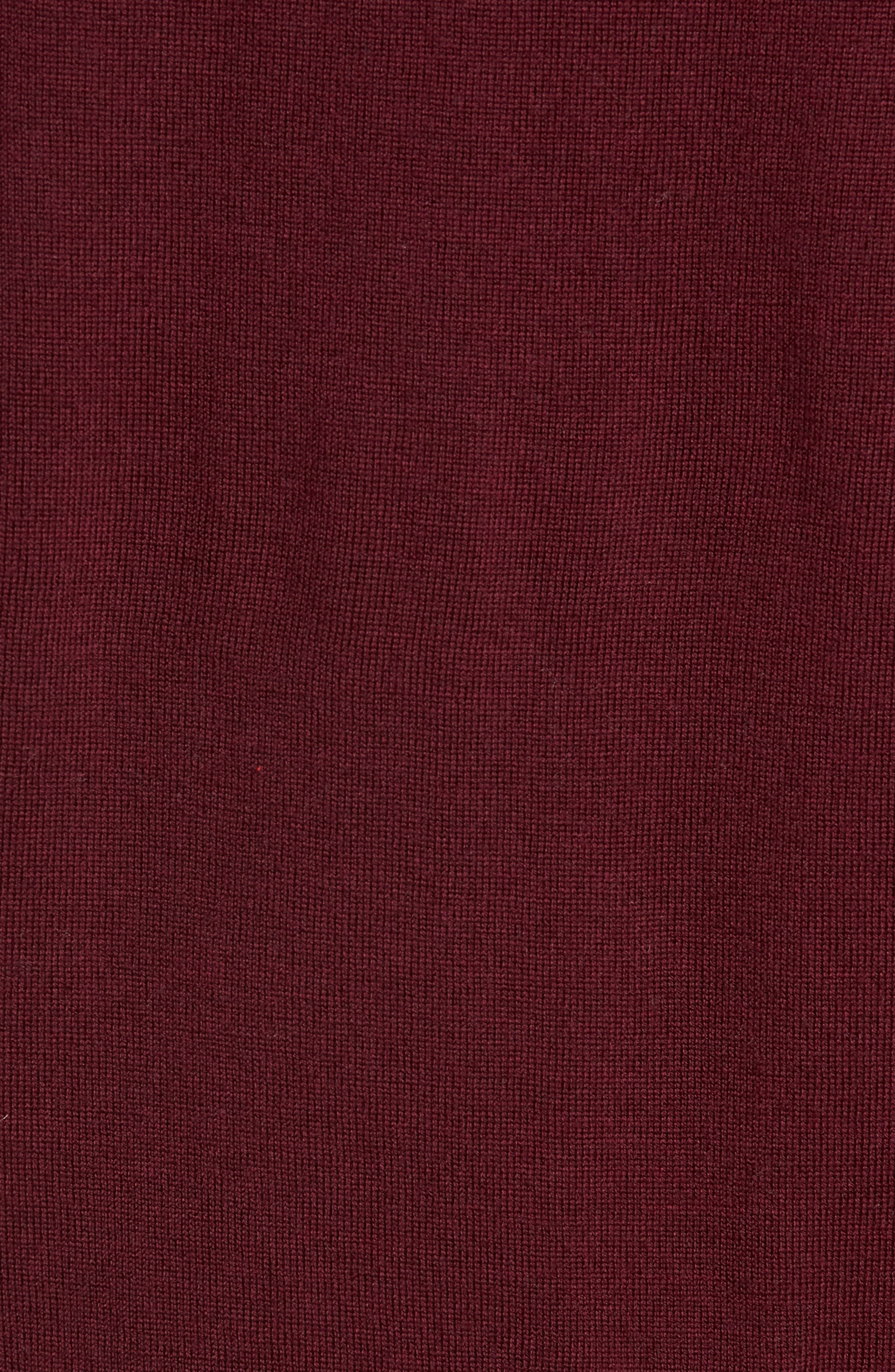 Heart Intarsia Regular Fit Merino Wool Sweater,                             Alternate thumbnail 5, color,                             BEETROOT