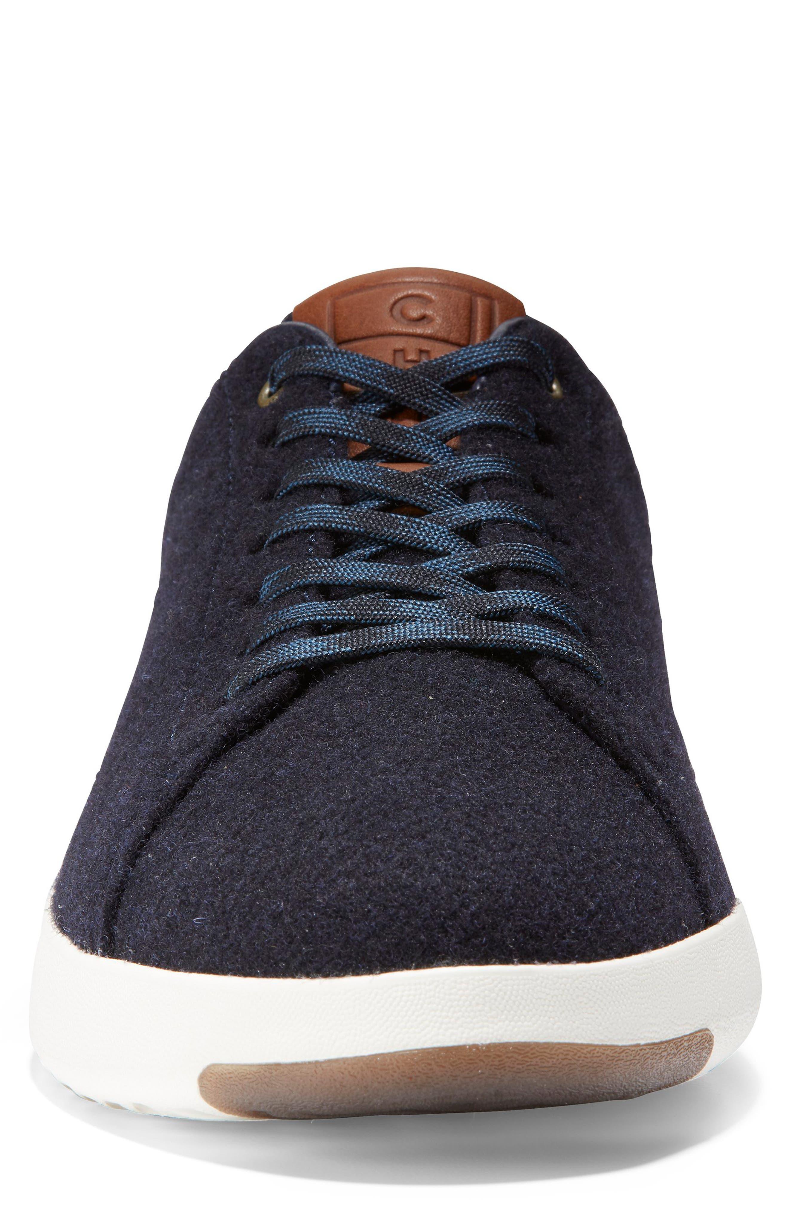 GrandPro Tennis Sneaker,                             Alternate thumbnail 4, color,                             NAVY INK WOOL/ BRITISH TAN