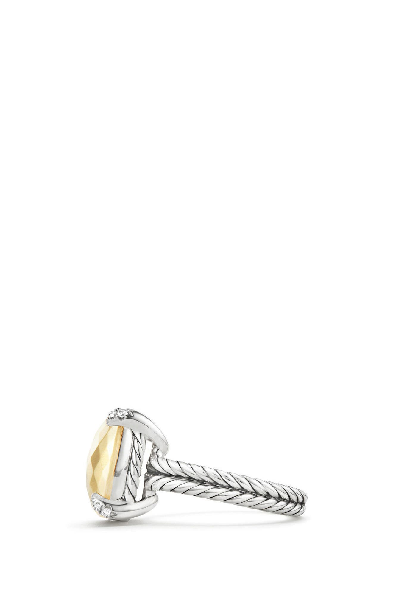 Chatelaine Ring with 18K Gold and Diamonds,                             Alternate thumbnail 2, color,                             GOLD DOME