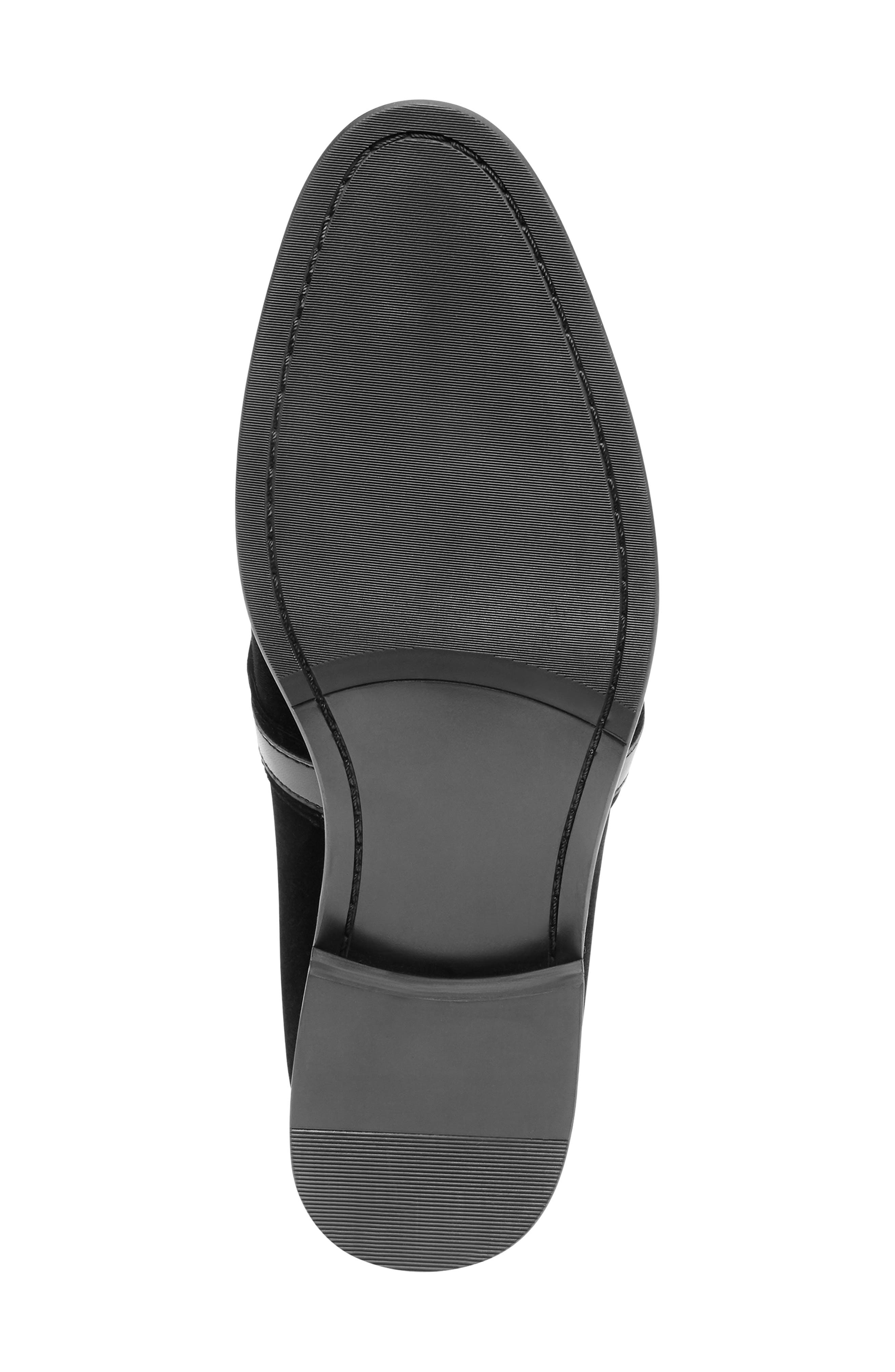 Macklin Bit Loafer,                             Alternate thumbnail 6, color,                             BLACK FABRIC